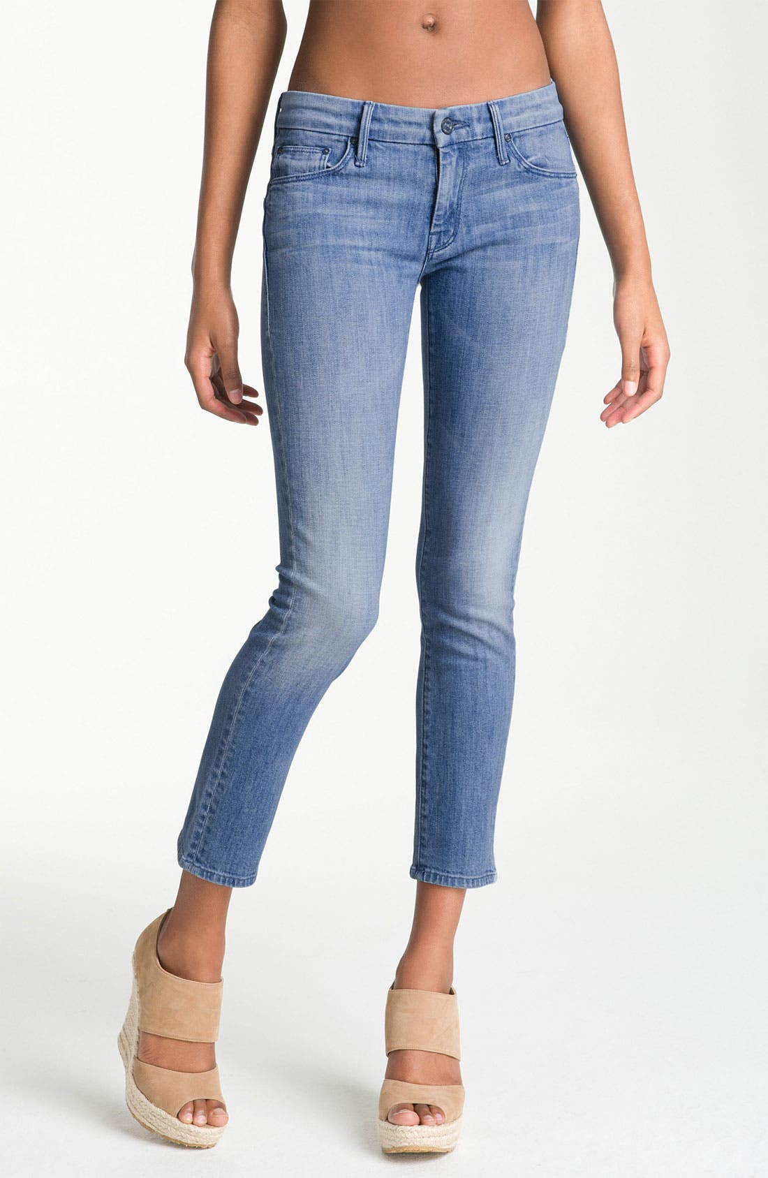 Main Image - MOTHER 'The Cropped Looker' Stretch Skinny Jeans (French Quarter)