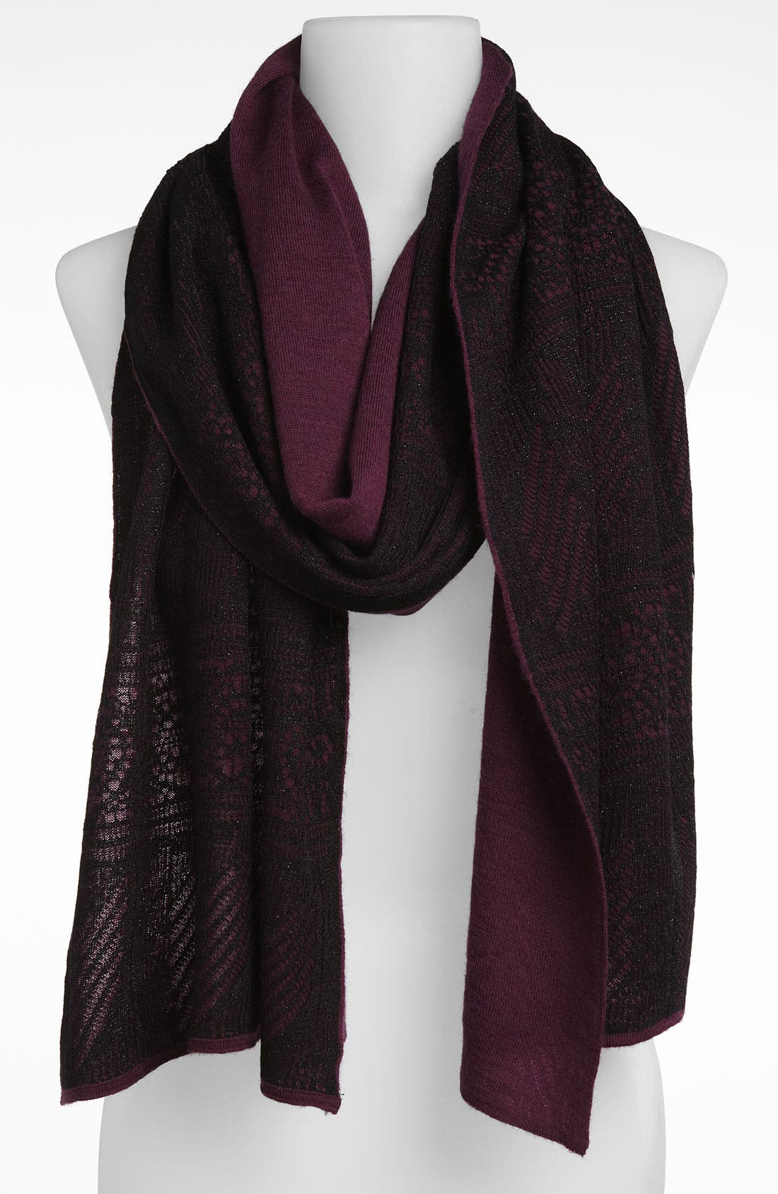 Main Image - Nordstrom Collection 'Metallic Lace' Wool Blend Scarf