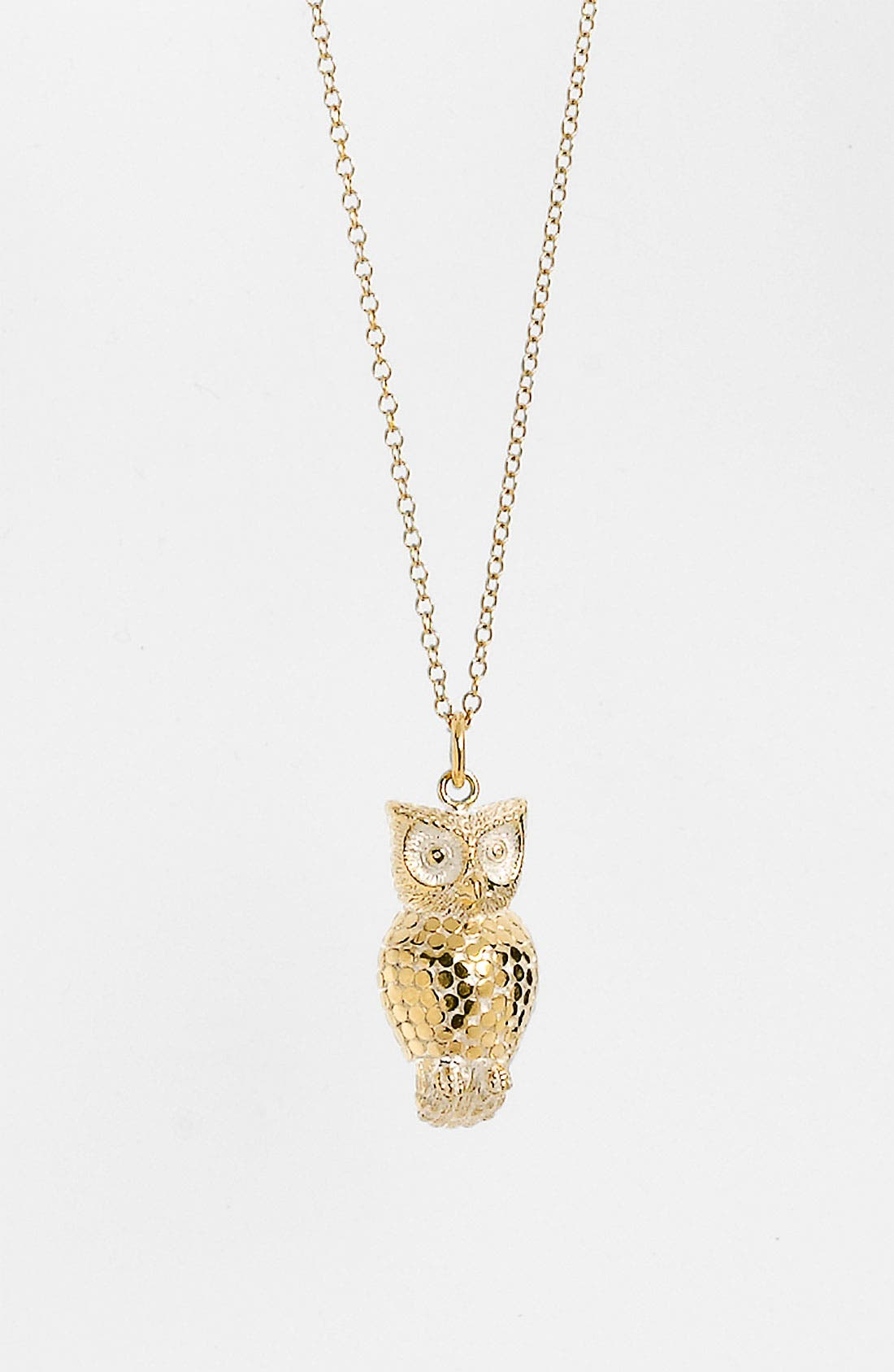 'Animals' Long Owl Pendant Necklace,                             Alternate thumbnail 2, color,                             Gold/ Silver