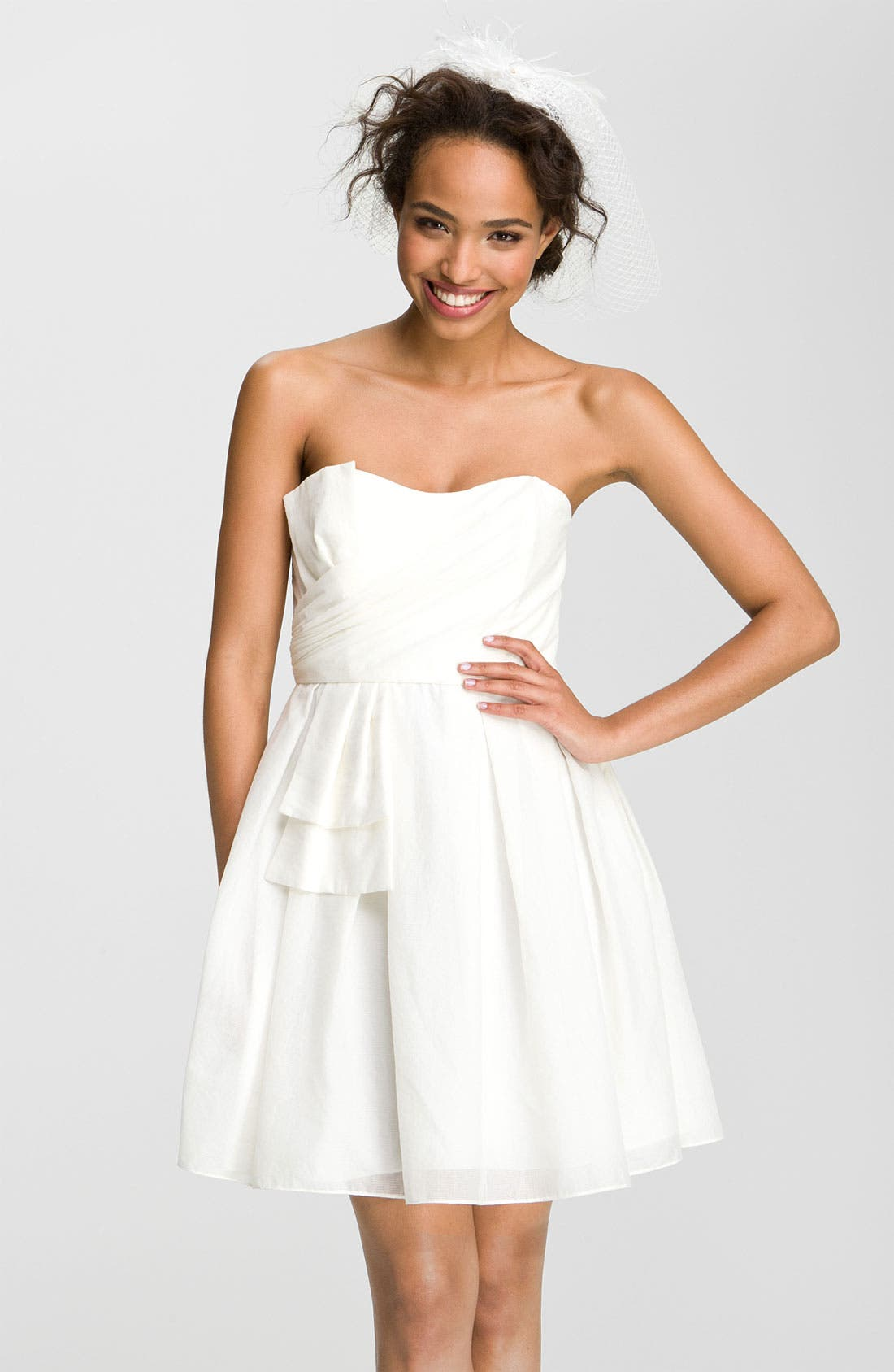 Main Image - Jill Jill Stuart Sweetheart Neckline Bow Detail Dress