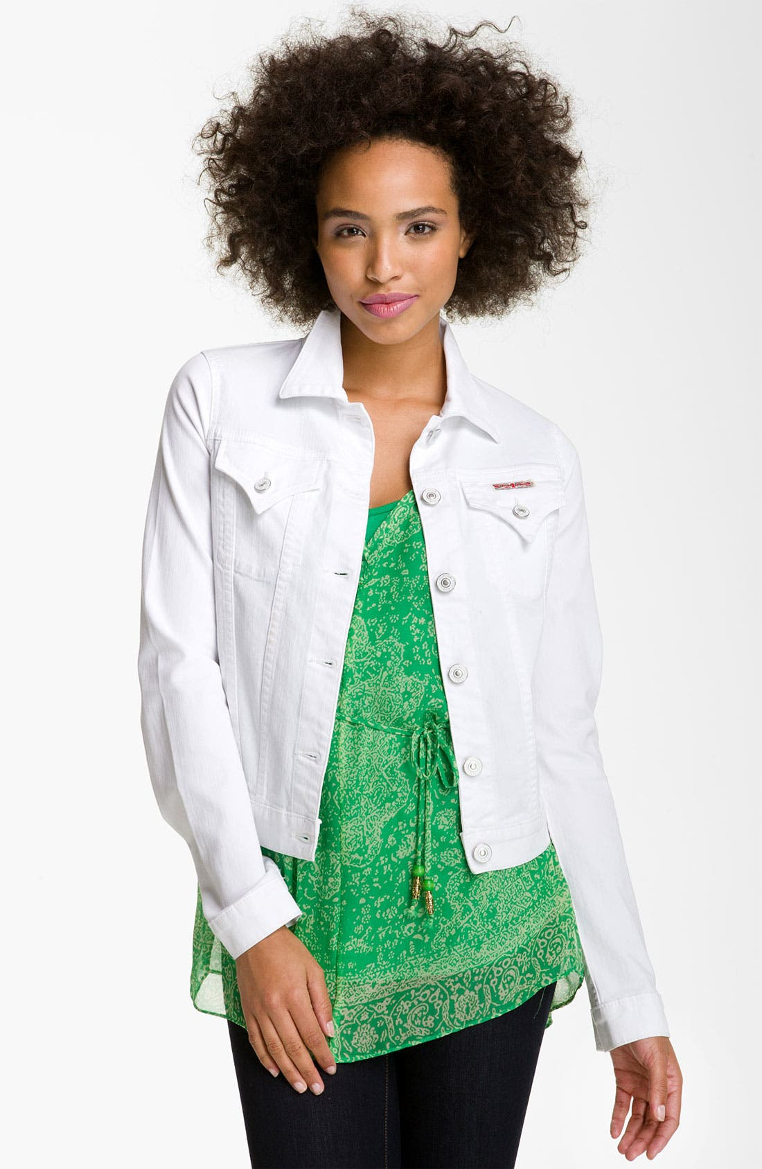 Main Image - Hudson Jeans Denim Jacket (White)