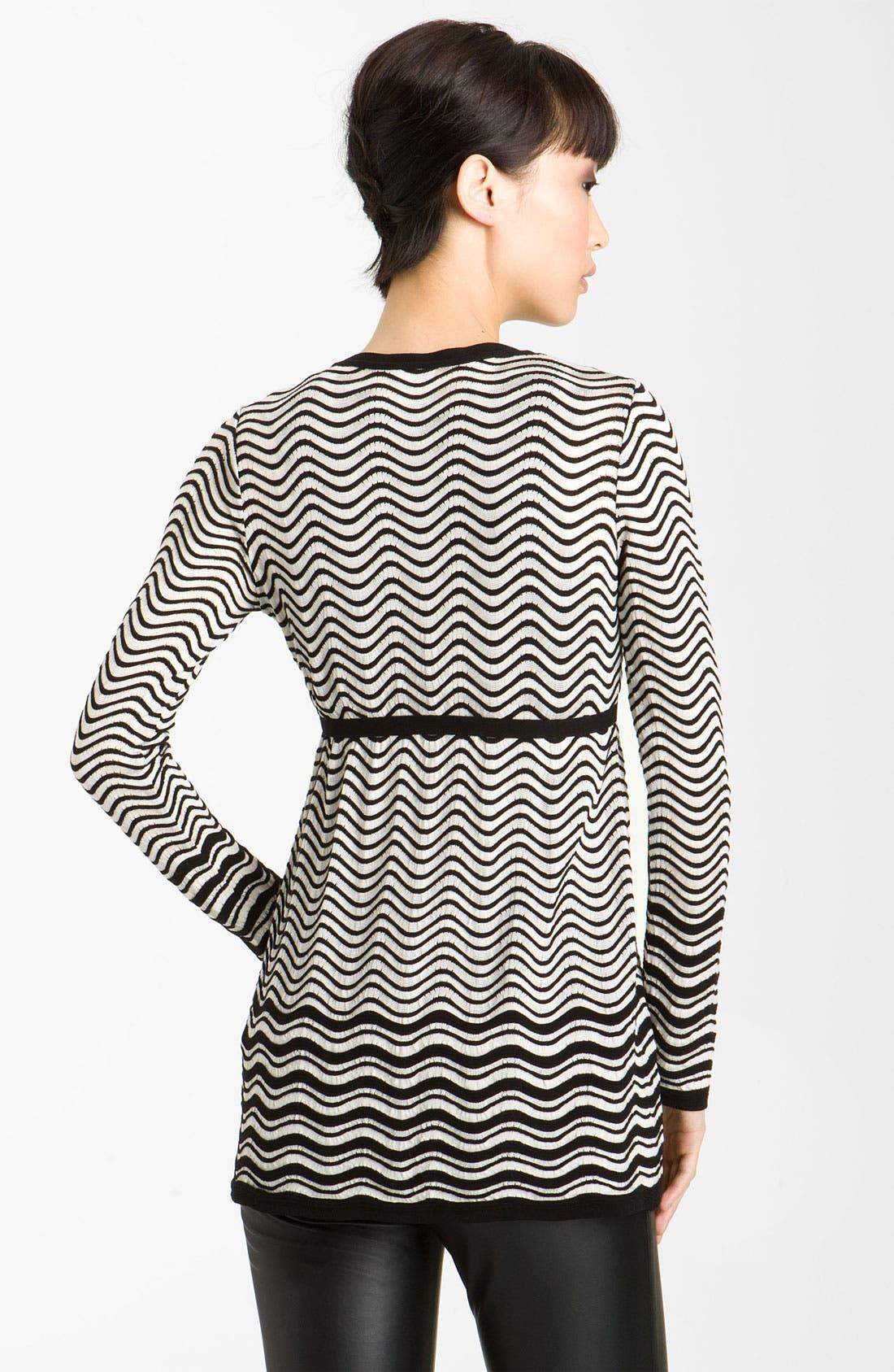 Alternate Image 2  - M Missoni Pointelle Wave Stripe Cardigan