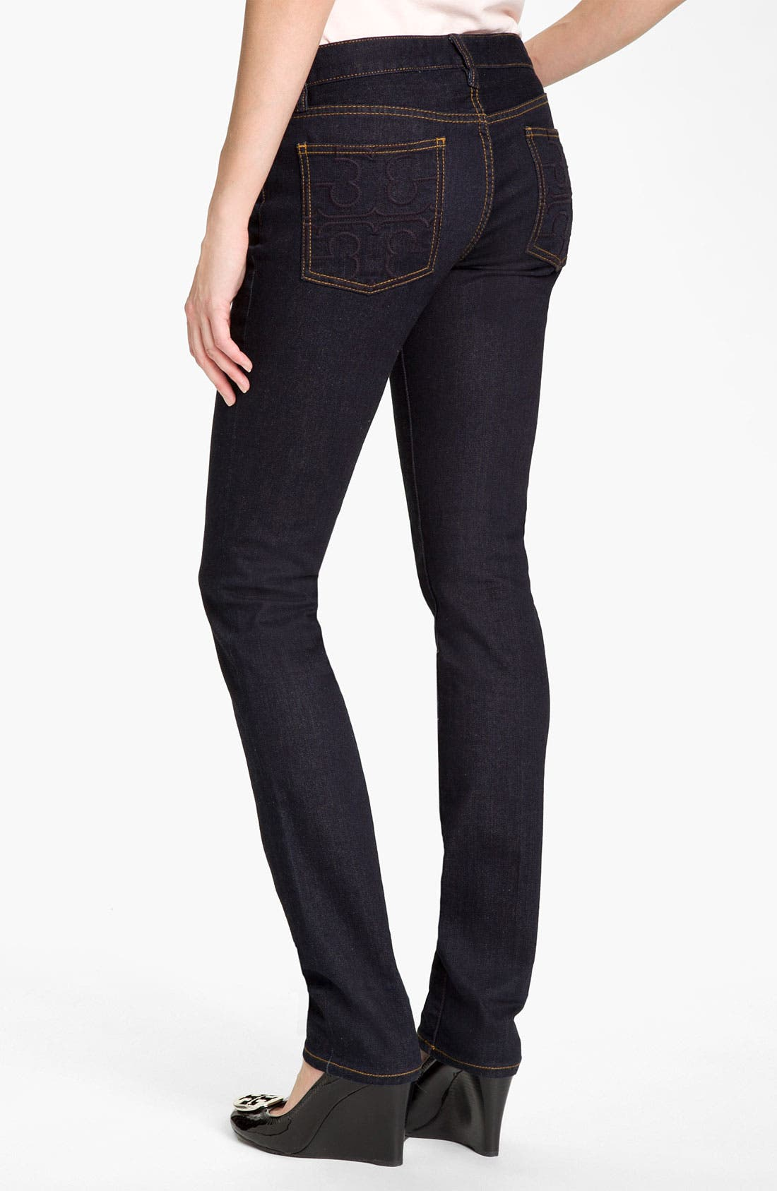 Alternate Image 2  - Tory Burch Super Skinny Stretch Jeans