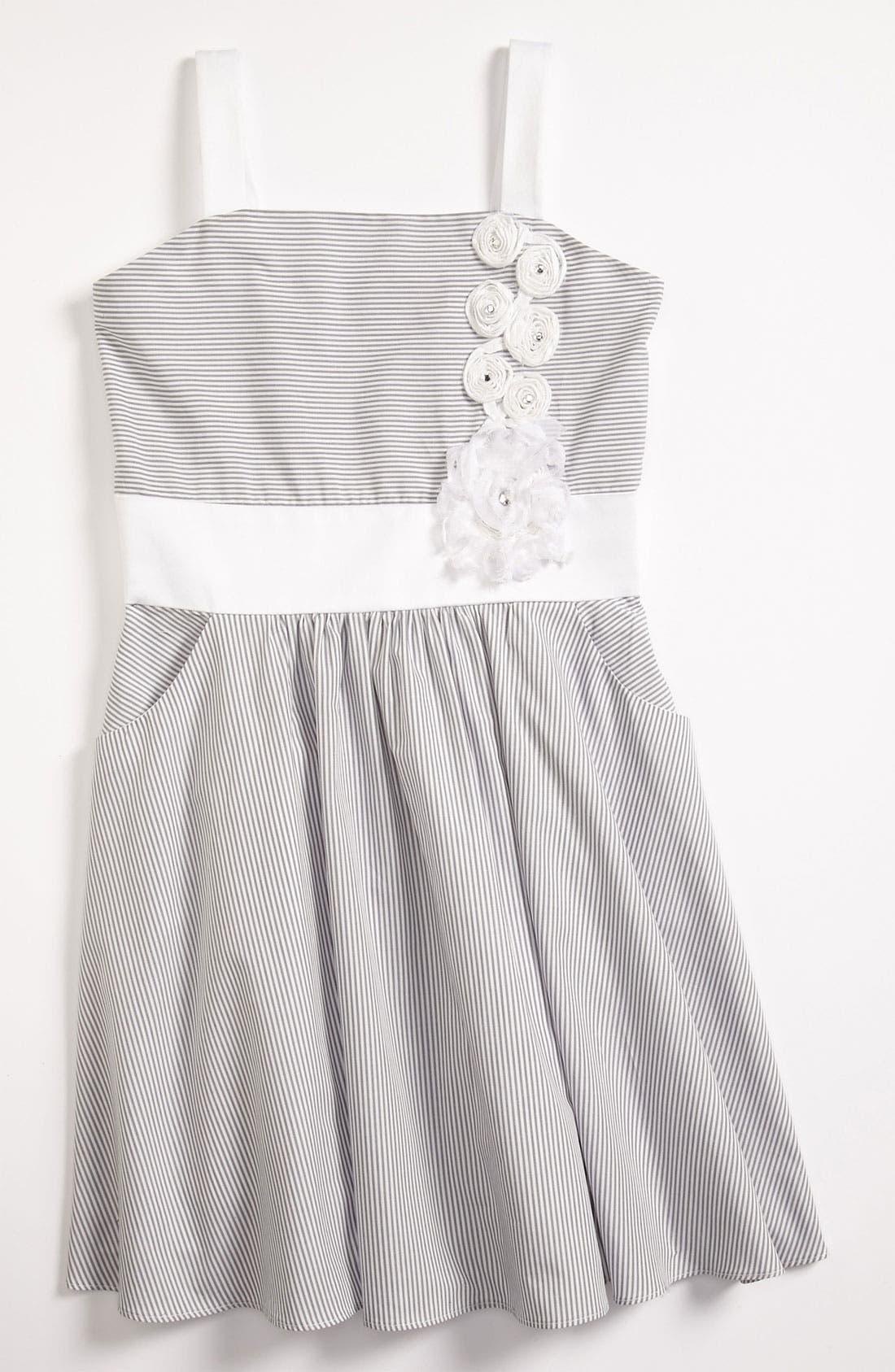 Alternate Image 1 Selected - Zoe Ltd Stripe Dress (Big Girls)