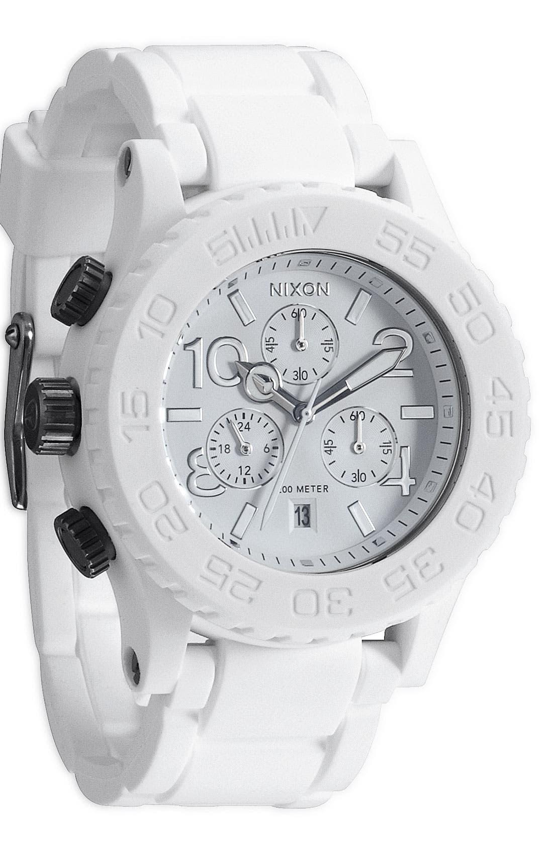 Main Image - Nixon 'The 42-20 Rubber Chrono' Watch