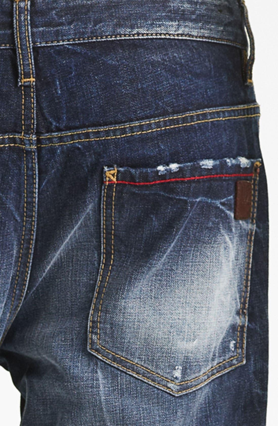 Alternate Image 4  - Dsquared2 'Dean' Straight Leg Jeans (Blue Wash)