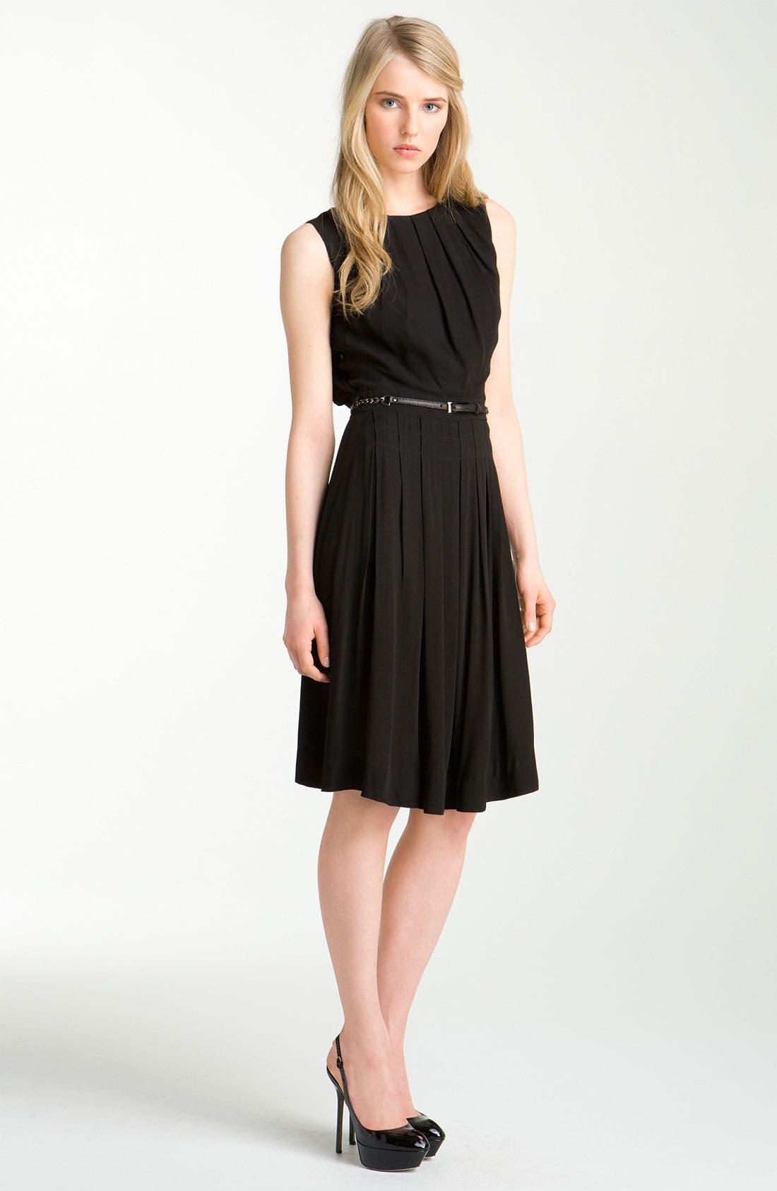 Main Image - L'AGENCE Belted Crepe Dress