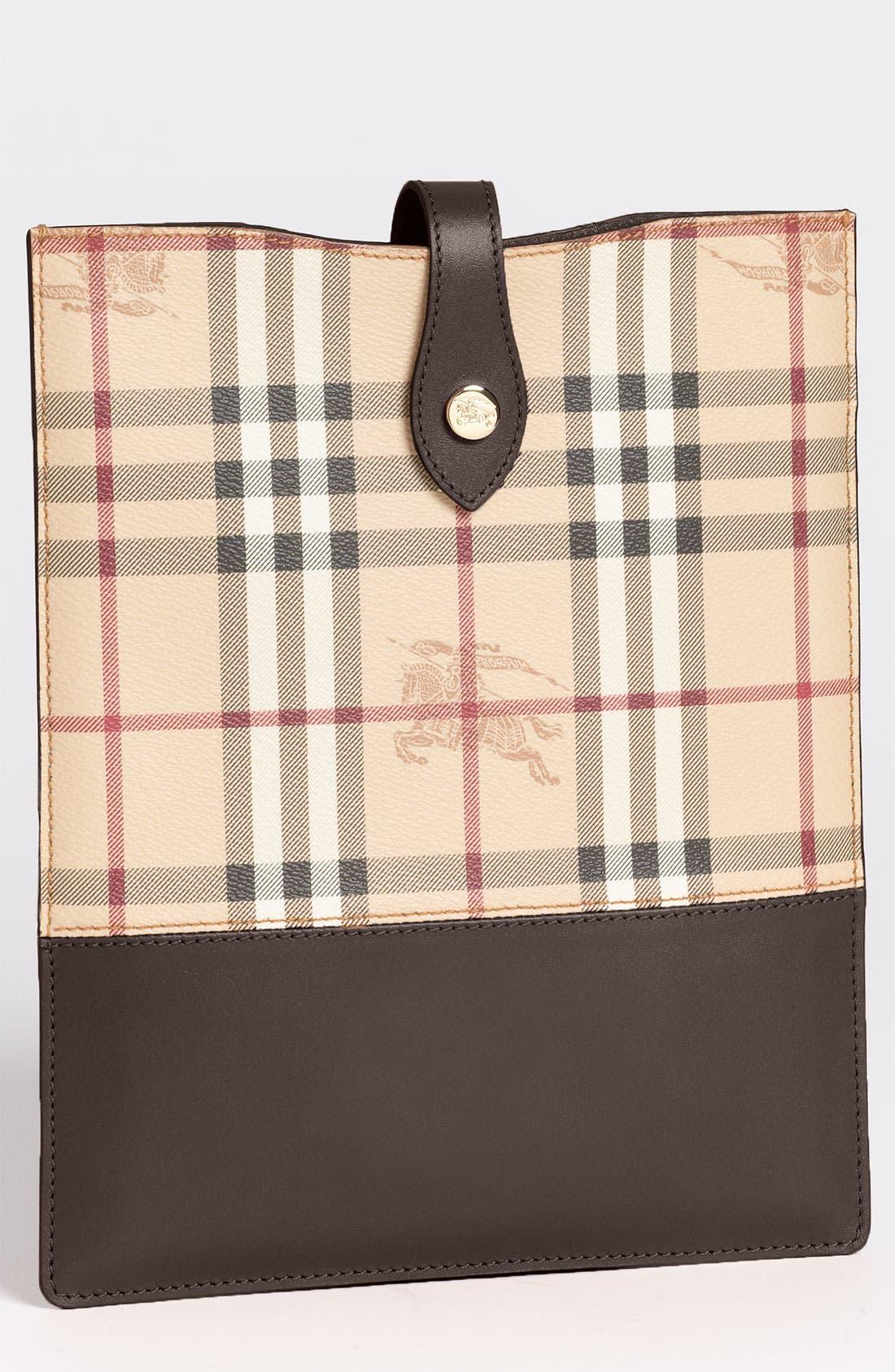 Alternate Image 1 Selected - Burberry 'Haymarket Check' iPad Sleeve