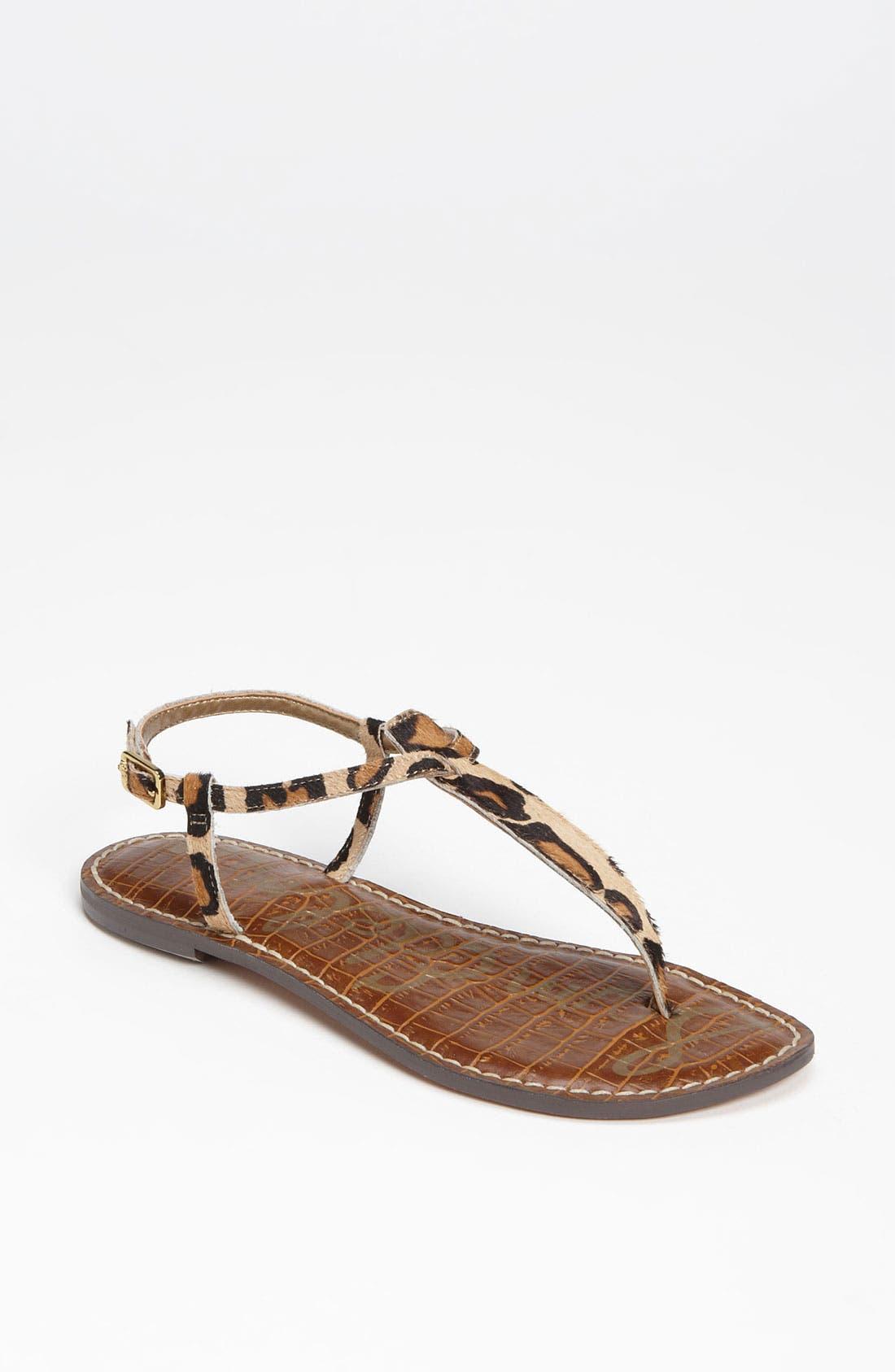 Gigi Genuine Calf Hair Sandal,                             Main thumbnail 1, color,                             New Nude Leopard