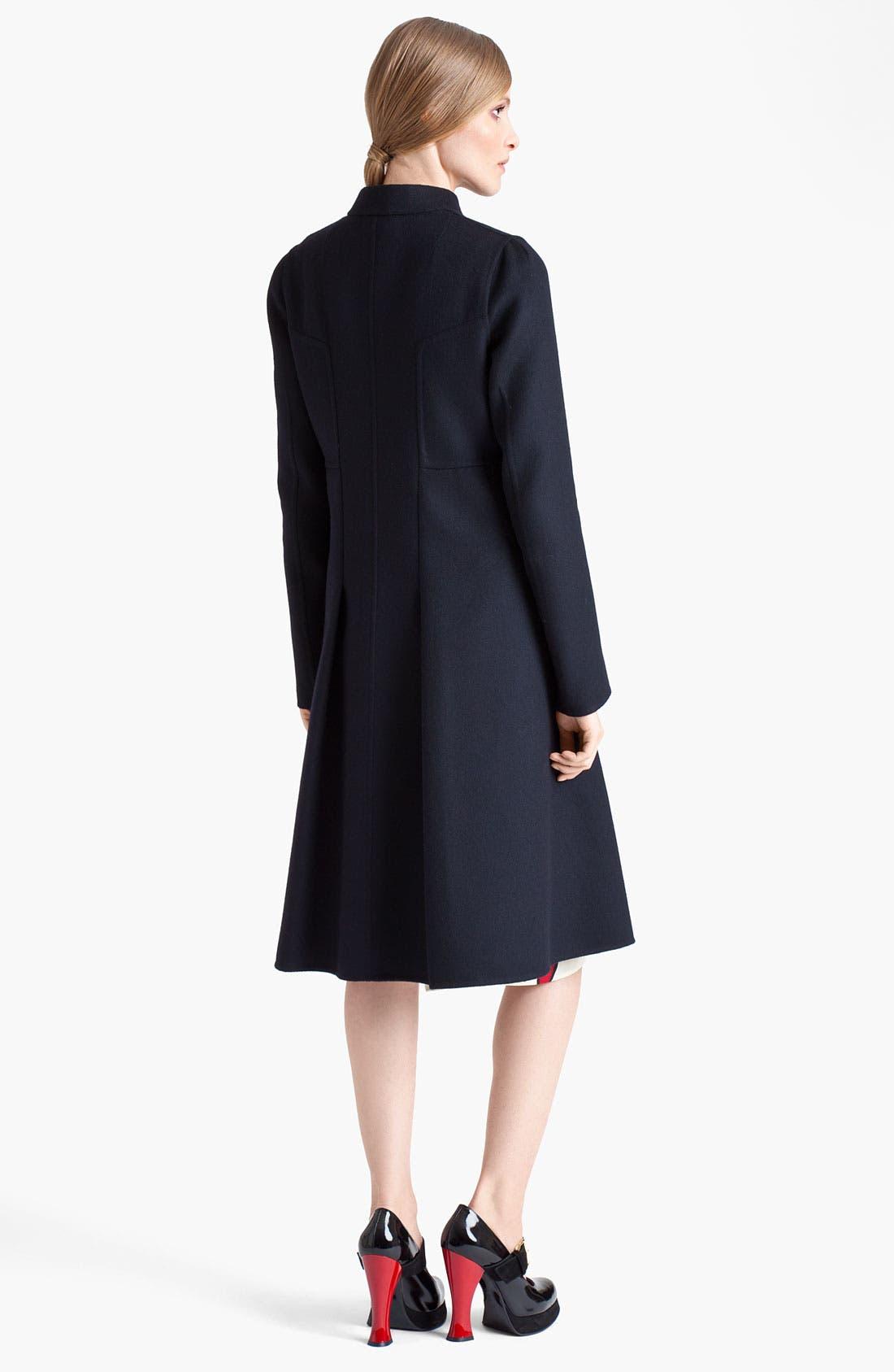 Alternate Image 2  - Marni Inverted Pleat Wool Coat