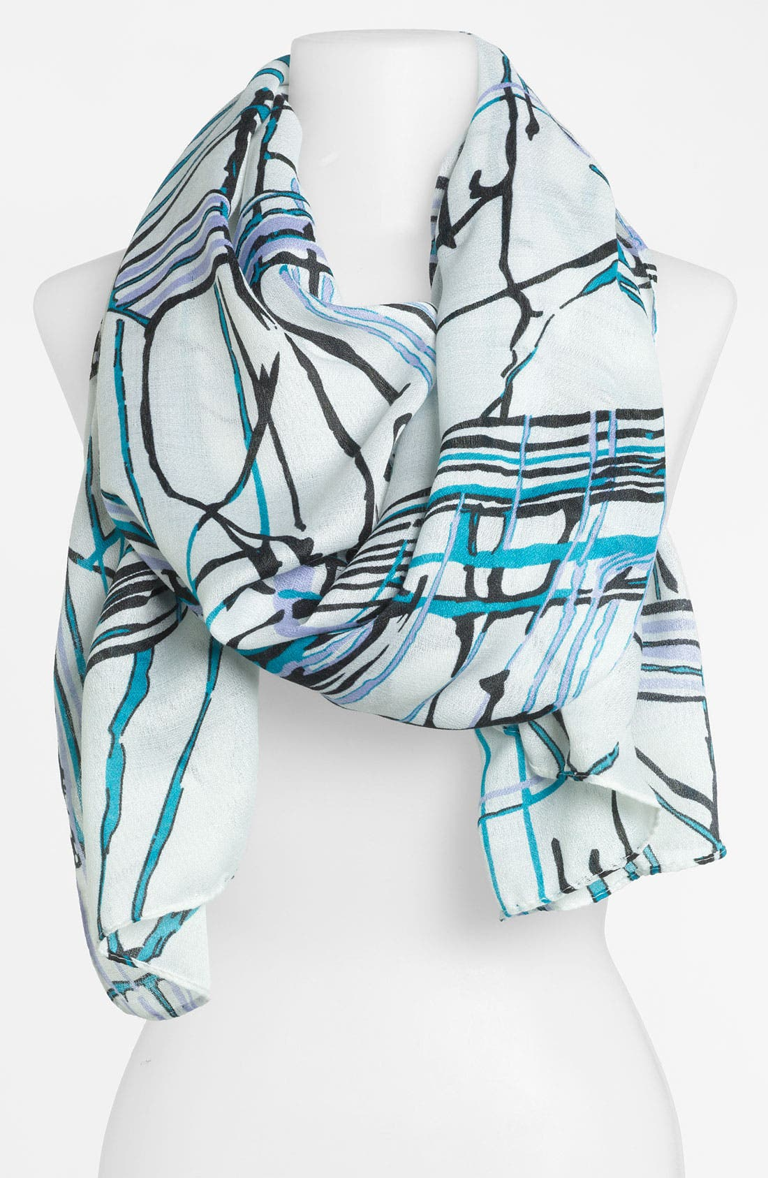 Alternate Image 1 Selected - Raj Imports 'Painted Lines' Scarf