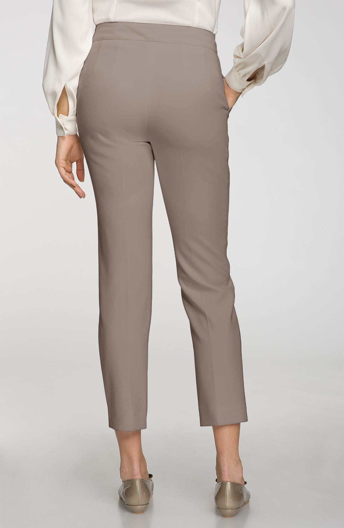 Alternate Image 2  - St. John Collection 'Emma' Crepe Marocain Crop Pants