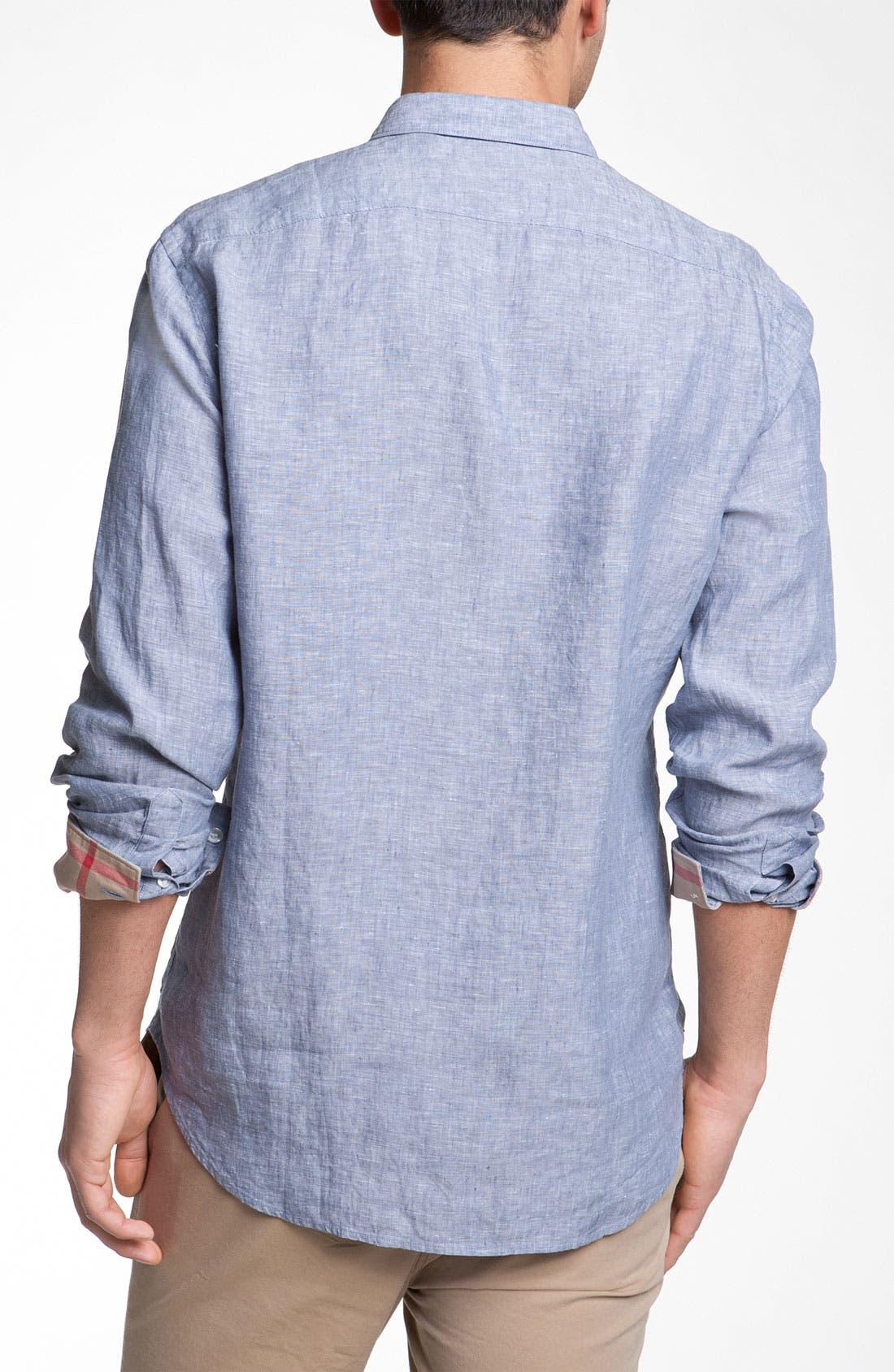 Alternate Image 2  - Burberry Linen Sport Shirt
