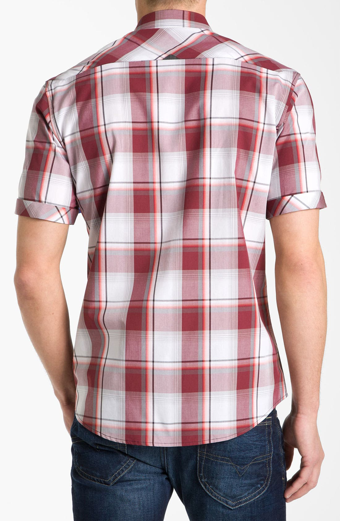 Alternate Image 2  - 7 Diamonds 'Up Above the Rock' Plaid Woven Short Sleeve Shirt