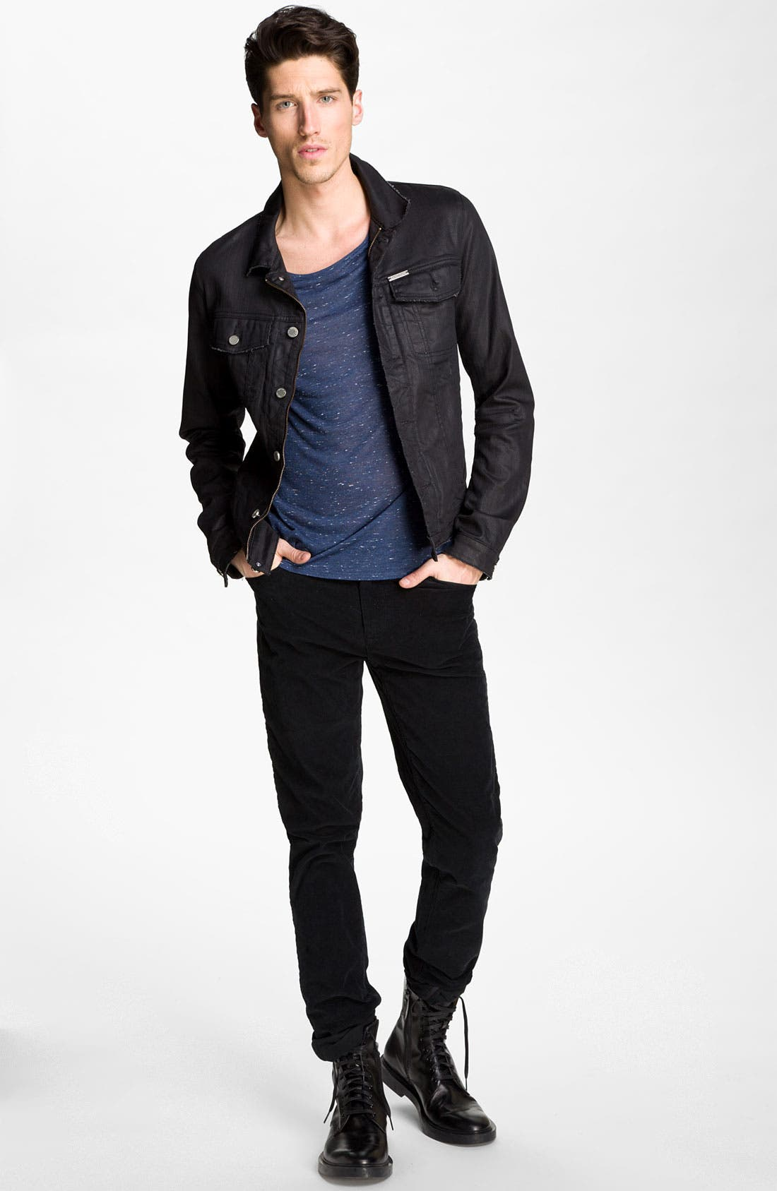 Alternate Image 4  - Zadig & Voltaire Waxed Denim Jacket