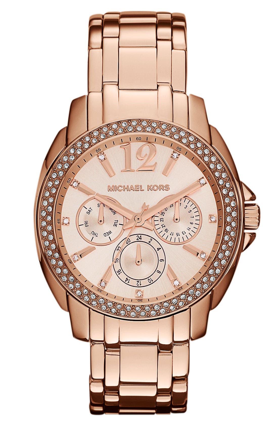 Alternate Image 1 Selected - Michael Kors 'Cameron' Round Bracelet Watch