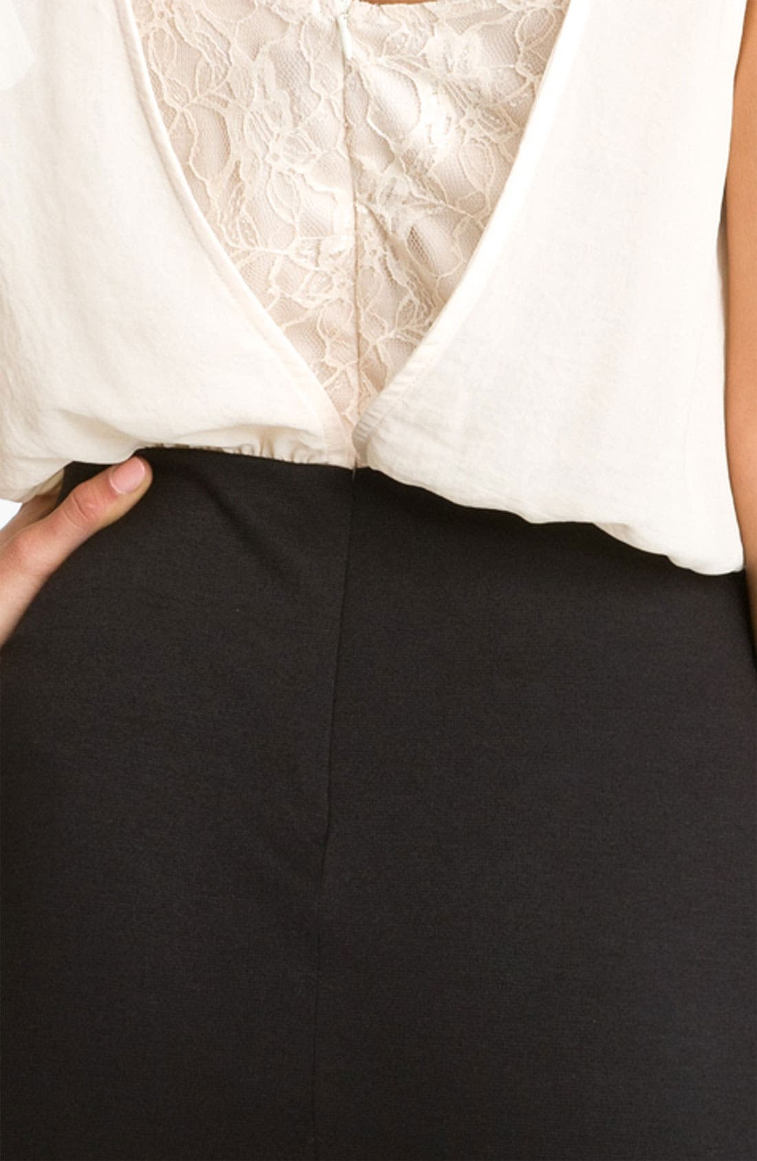 Alternate Image 3  - Lush Lace Mock Two Piece Dress (Juniors)