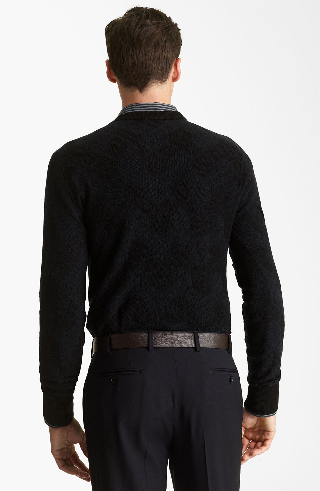 Alternate Image 2  - Armani Collezioni V-Neck Knit Sweater