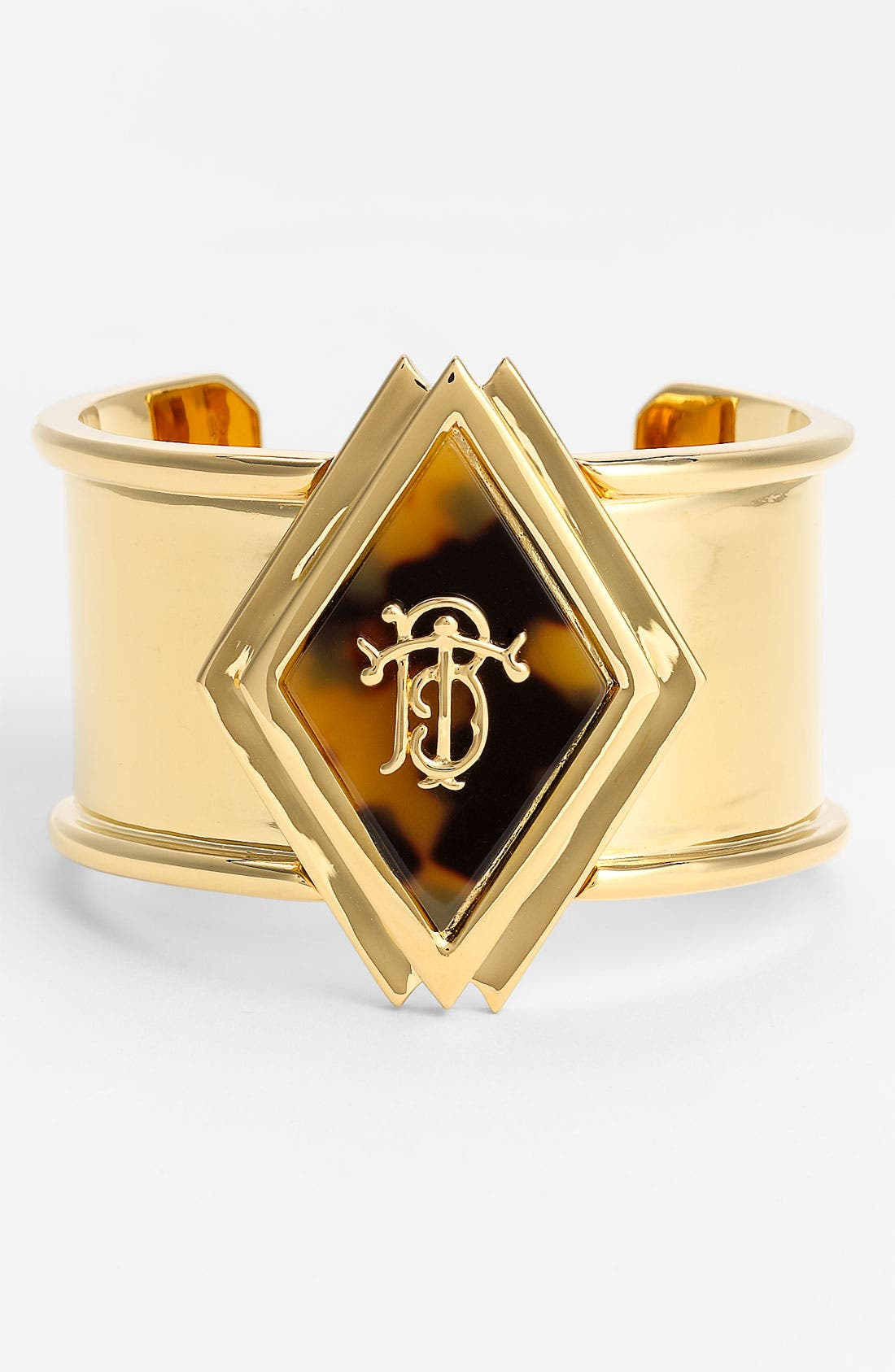 Main Image - Tory Burch Wide Monogram Cuff