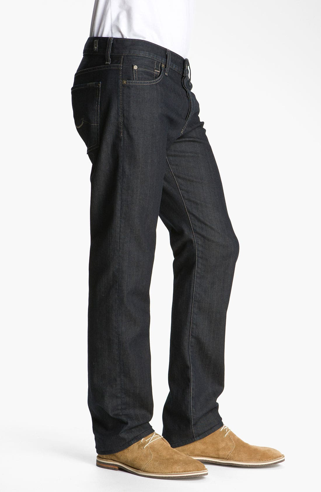 Alternate Image 3  - 7 For All Mankind® 'Standard' Straight Leg Jeans (Chester Row)