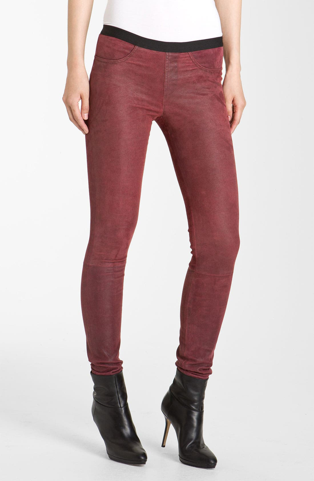 Alternate Image 1 Selected - Helmut Lang Patina Lambskin Leather Leggings
