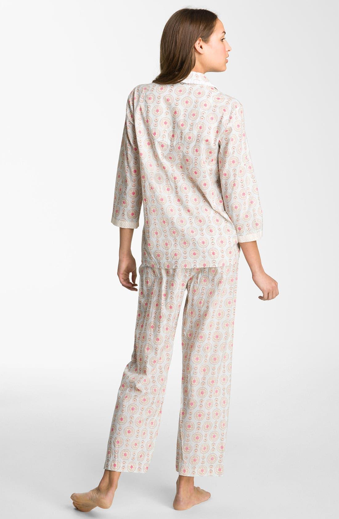 Alternate Image 2  - Carole Hochman Designs 'Wood Cut Floral' Pajamas