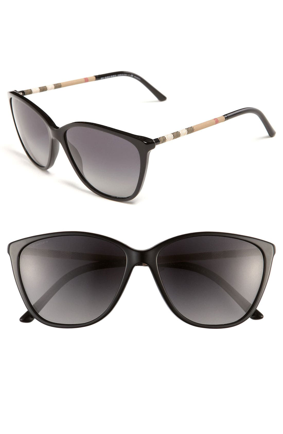 Main Image - Burberry Retro 58mm Polarized Sunglasses