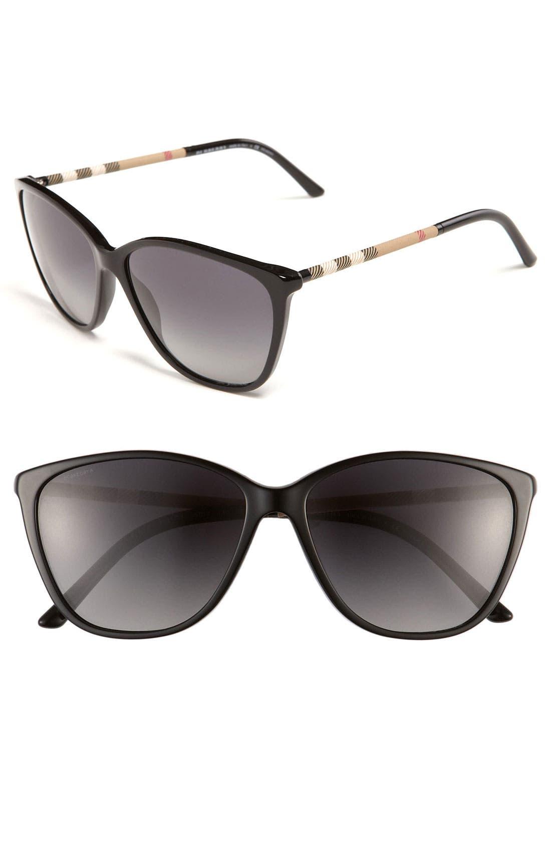Main Image - Burberry Retro 58mm Polarized Sunglasses
