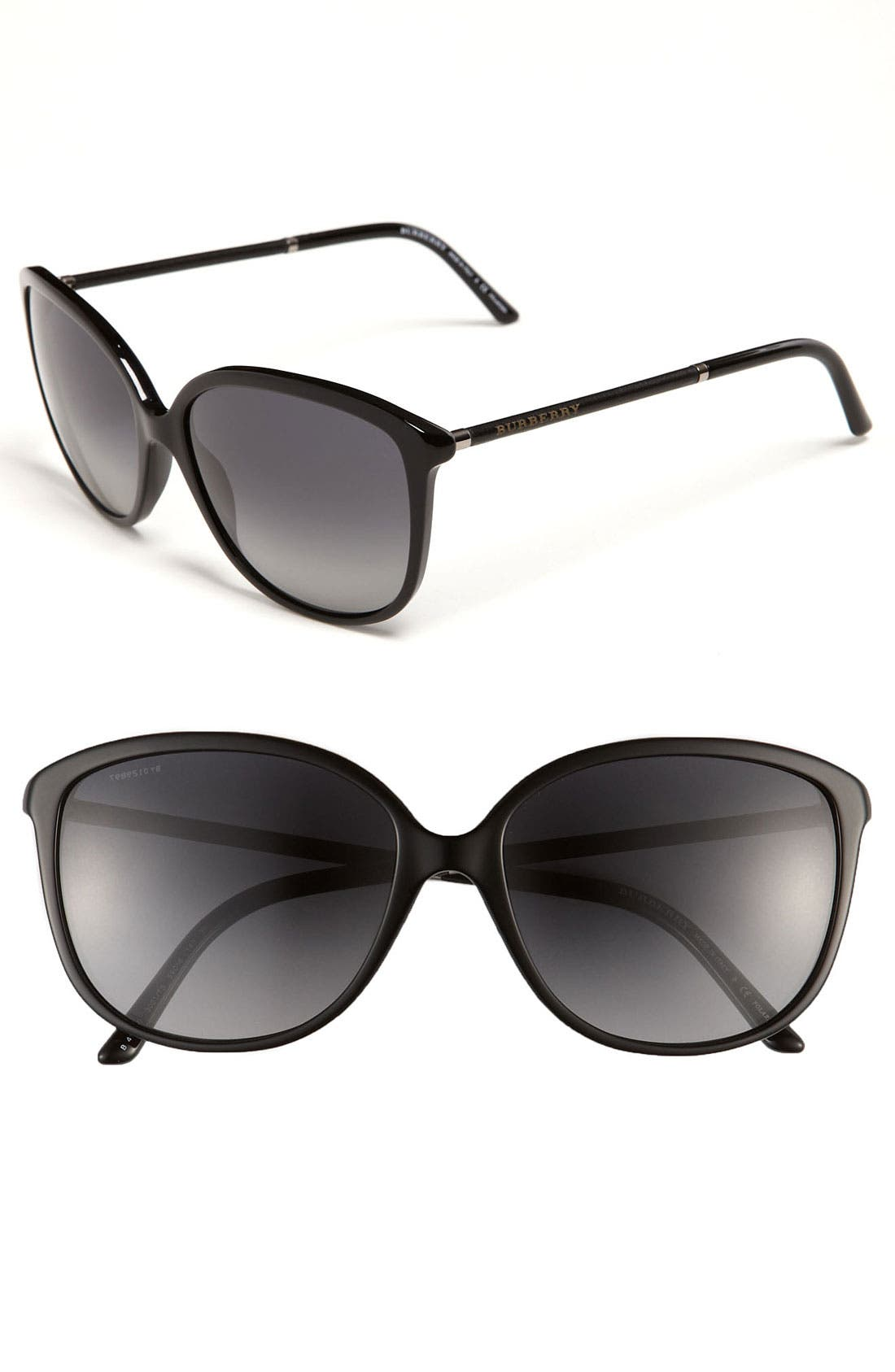 Main Image - Burberry Retro Polarized Sunglasses