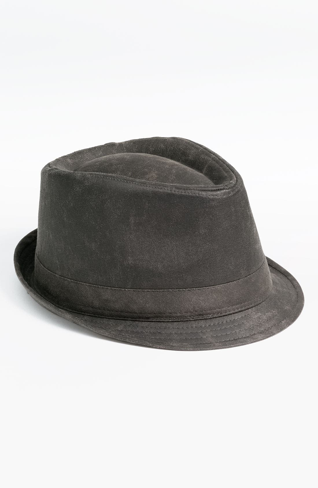 Alternate Image 1 Selected - Free Authority Faux Leather Fedora