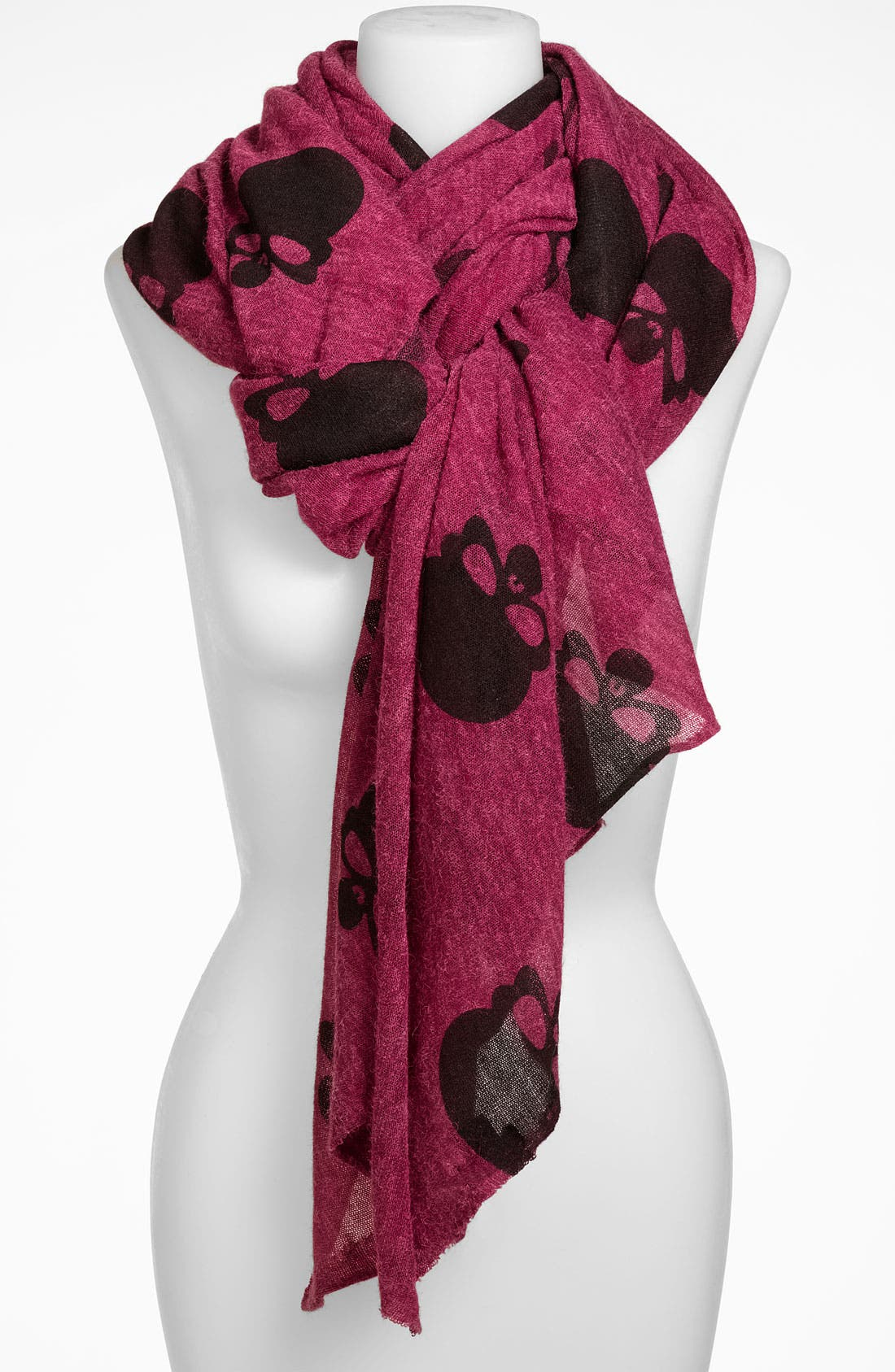 Main Image - Roffe Accessories 'Helmut Head Skull' Scarf