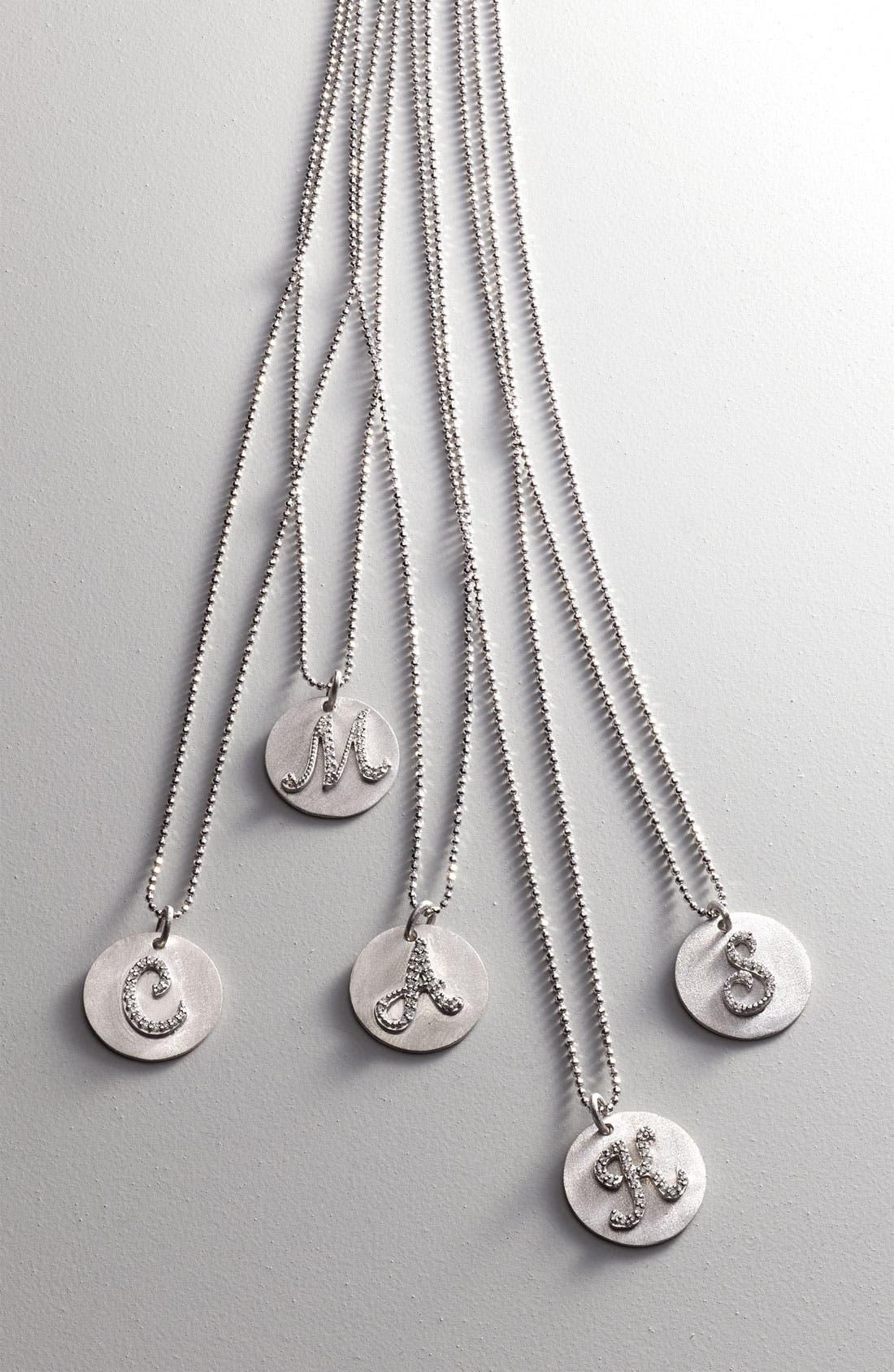 Alternate Image 2  - Bony Levy Diamond Initial Pendant Necklace (Nordstrom Exclusive)