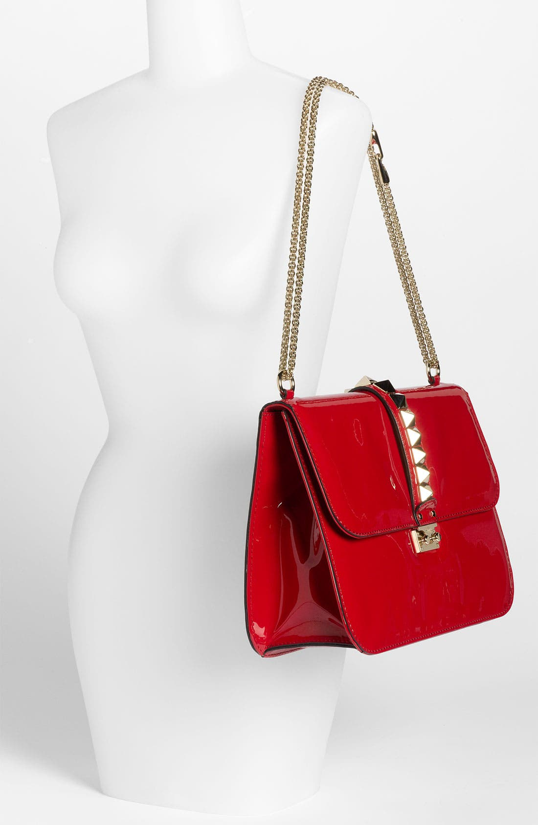 Alternate Image 2  - Valentino 'Grande Lock' Patent Leather Shoulder Bag
