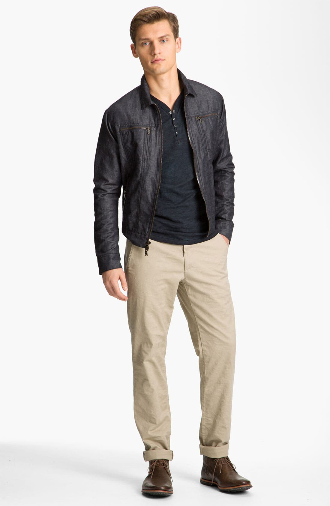 Alternate Image 4  - John Varvatos Star USA Cotton & Linen Jean Jacket