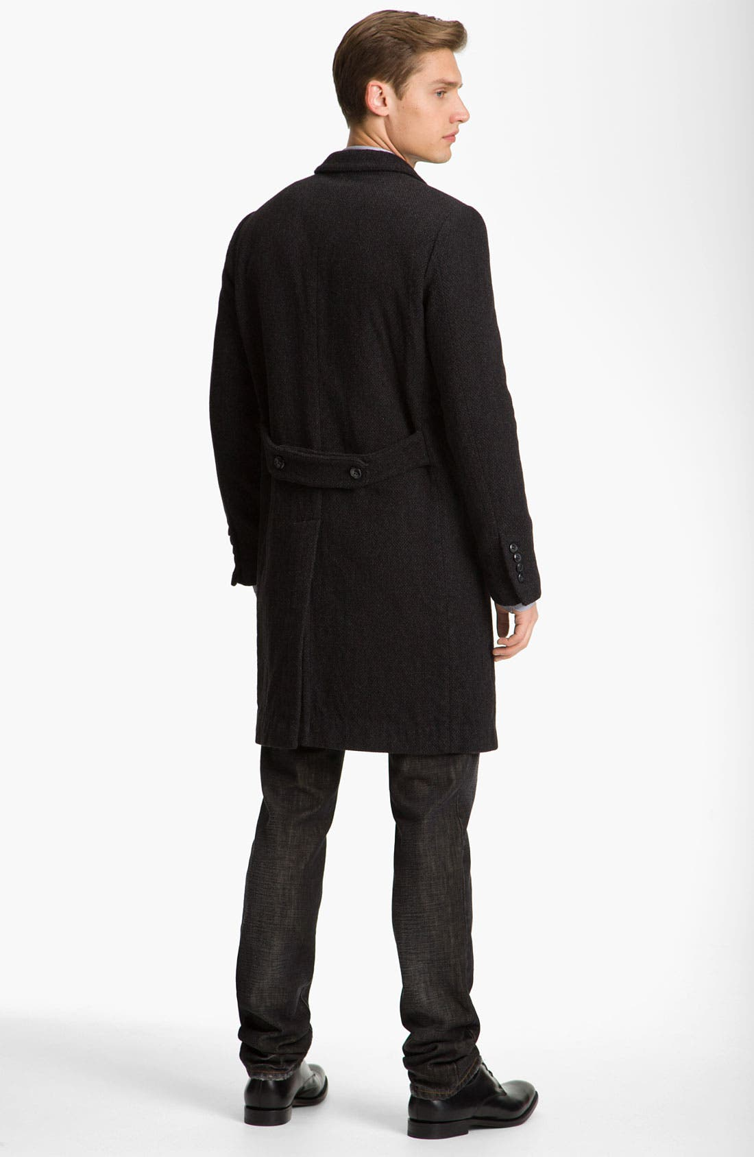 Alternate Image 2  - Dolce&Gabbana Long Tweed Overcoat