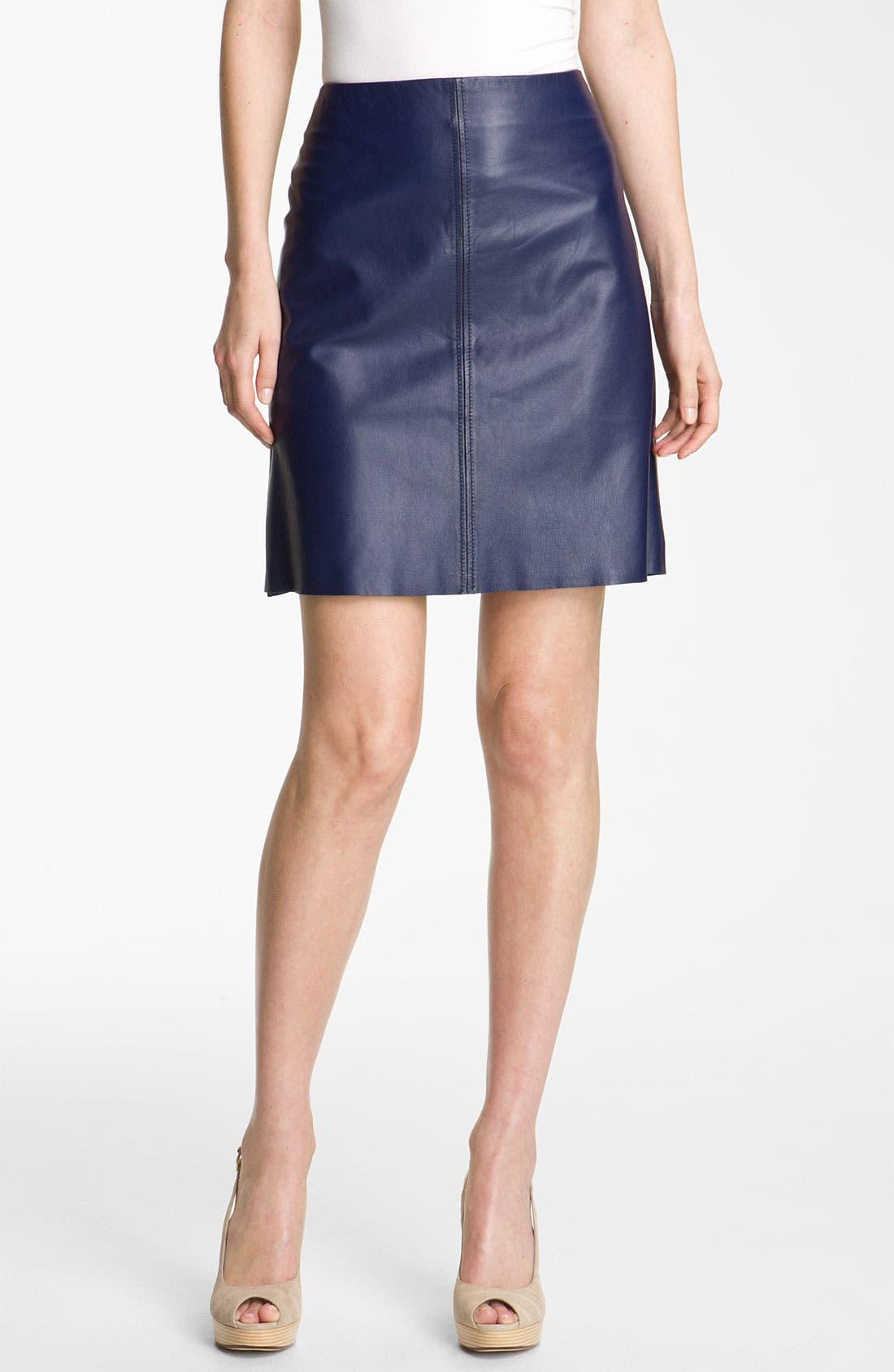 Alternate Image 1 Selected - Weekend Max Mara 'Affine' Leather Skirt