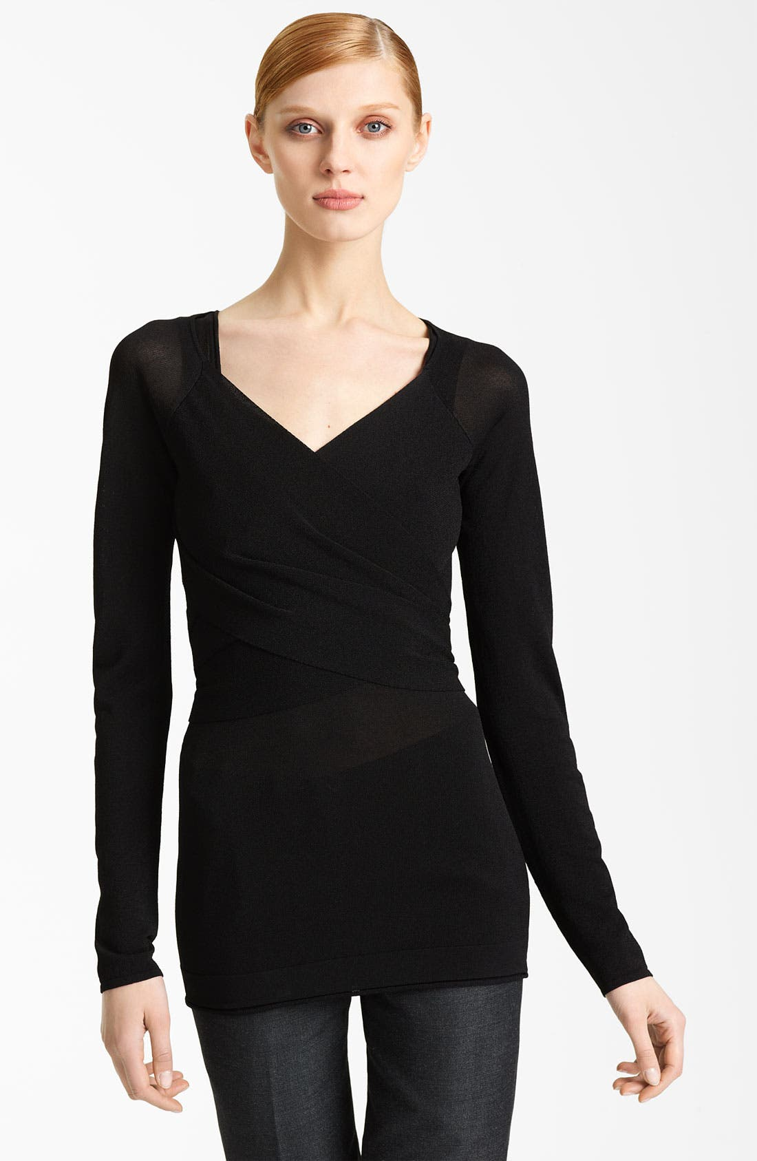 Alternate Image 1 Selected - Donna Karan Collection Tie Shrug