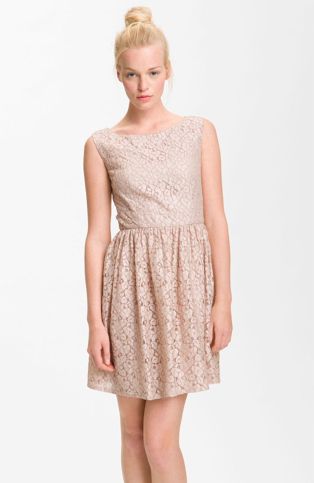 Main Image - French Connection 'Fast Twinkle' Metallic Lace Dress