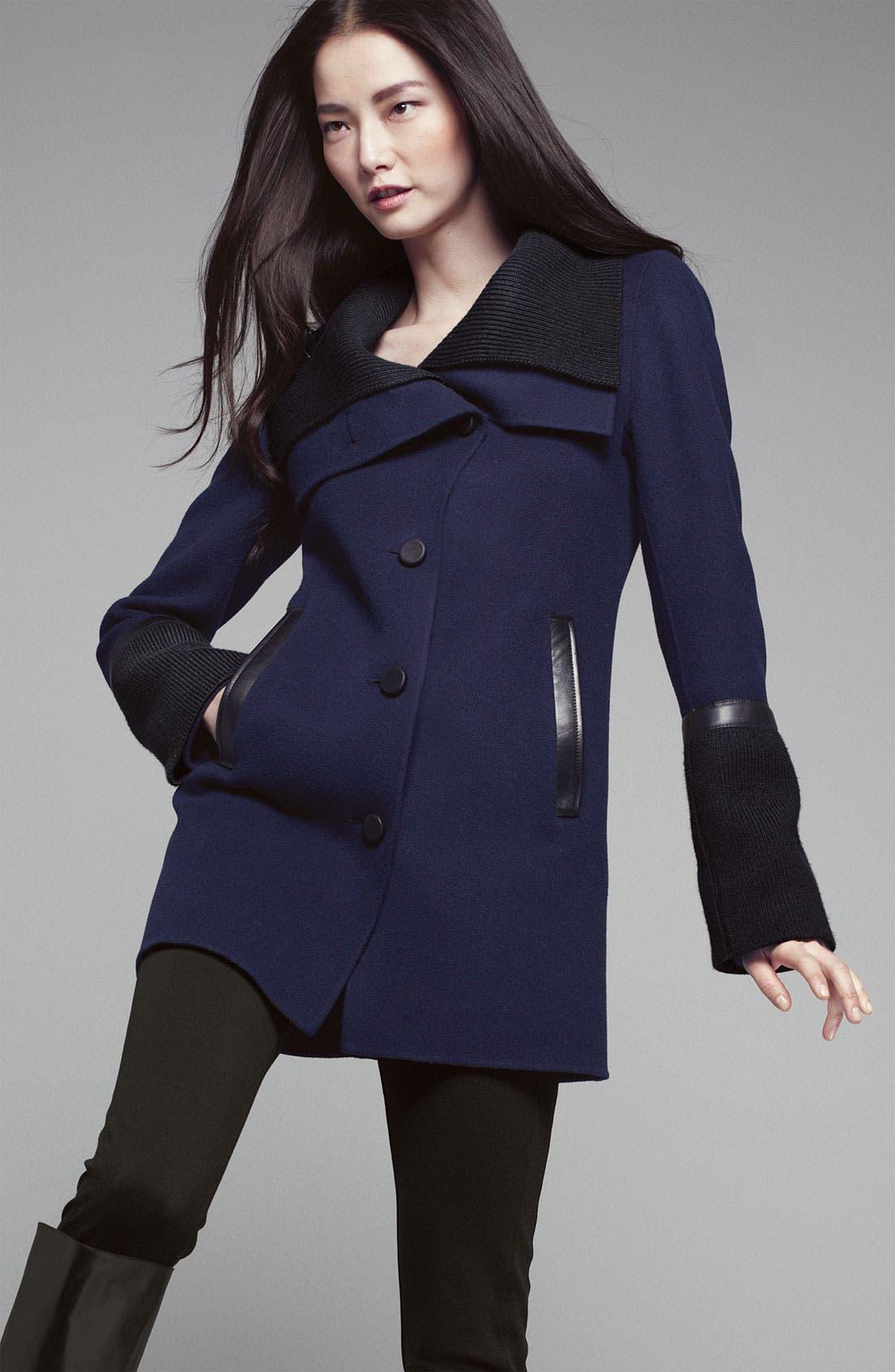 Alternate Image 4  - Mackage Knit & Leather Trim Coat