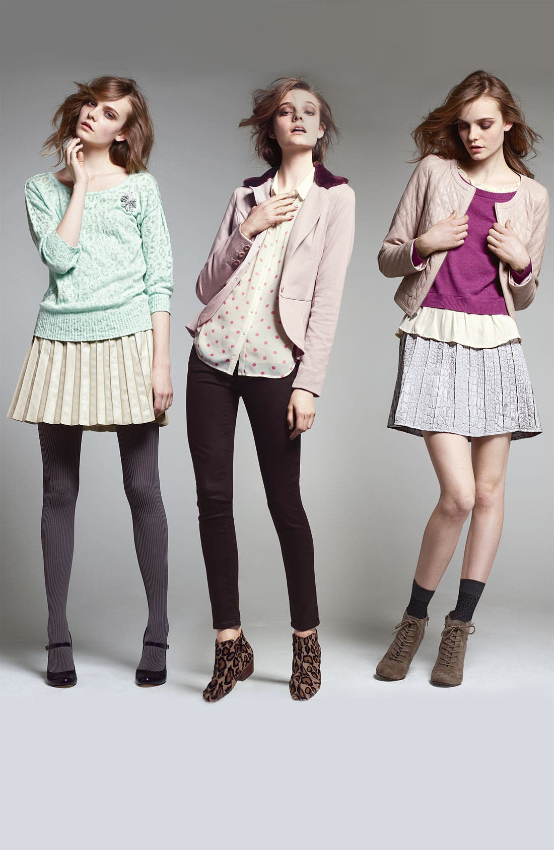 Alternate Image 5  - Hinge® Print Chiffon Shirt