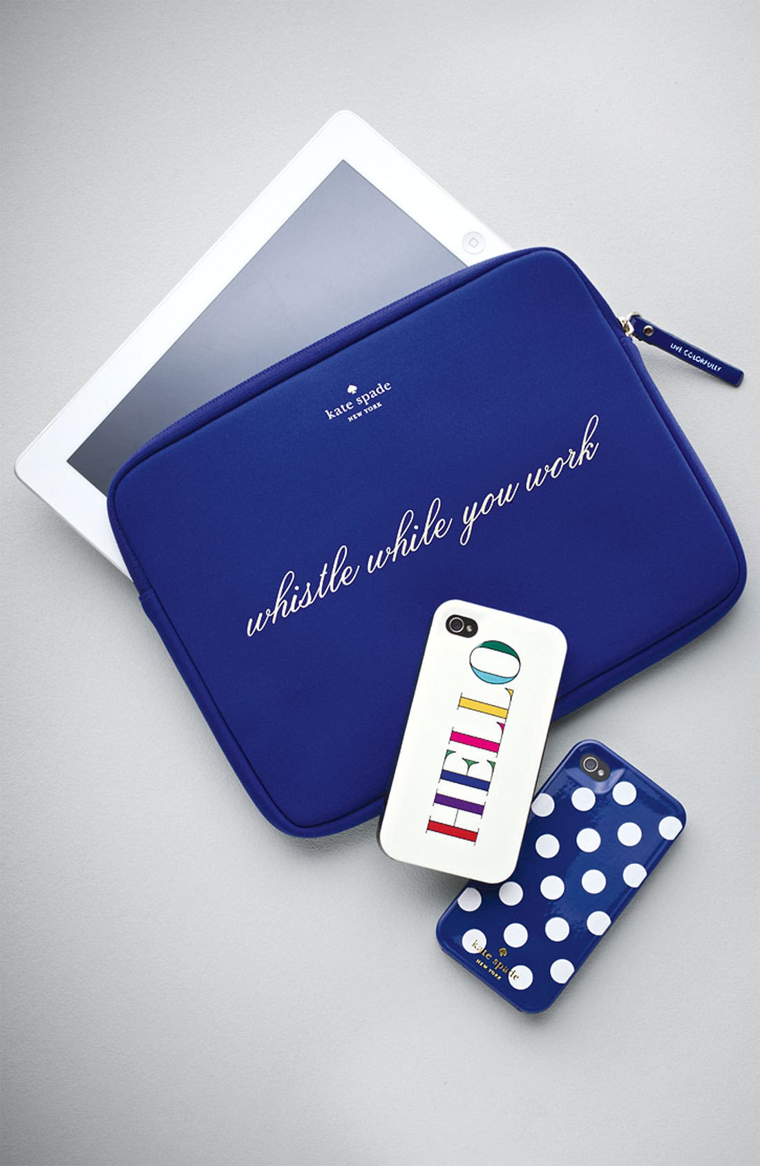 Alternate Image 5  - kate spade new york 'whistle while you work' iPad sleeve