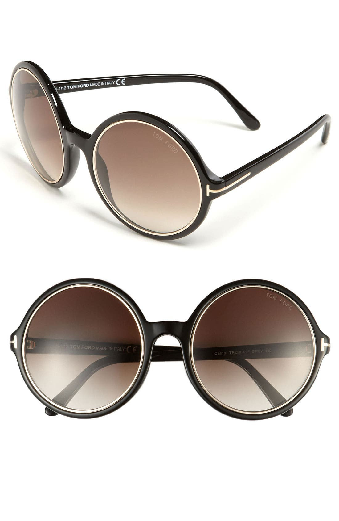 Main Image - Tom Ford 'Carrie' 59mm Round Sunglasses