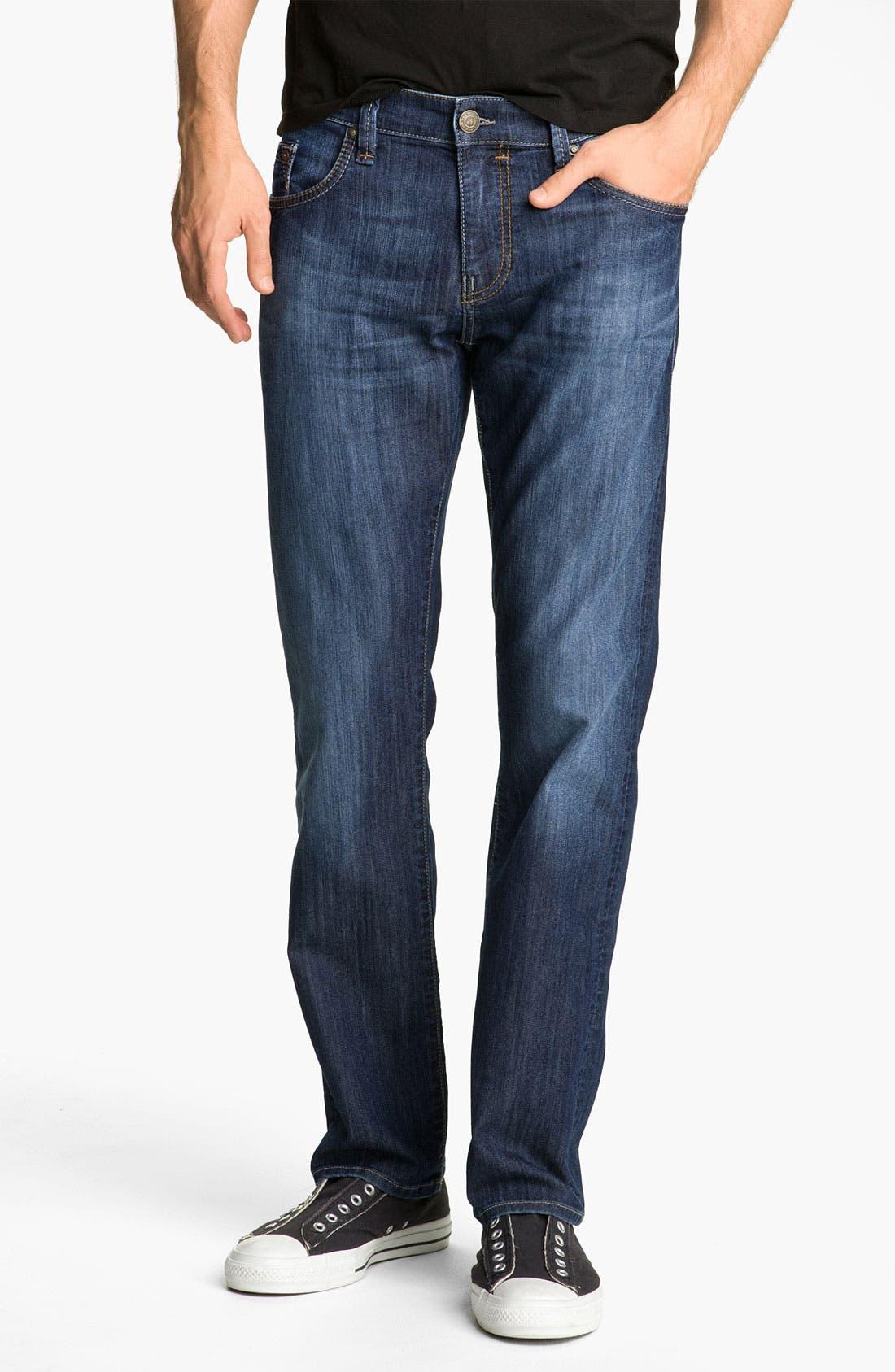 Alternate Image 2  - Mavi Jeans 'Zach' Straight Leg Jeans (Dark Arizona Comfort)