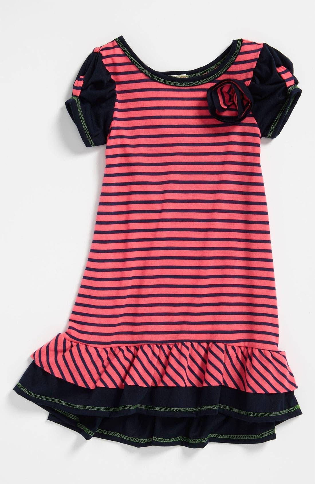 Alternate Image 1 Selected - Pink Vanilla Stripe Dress (Toddler)