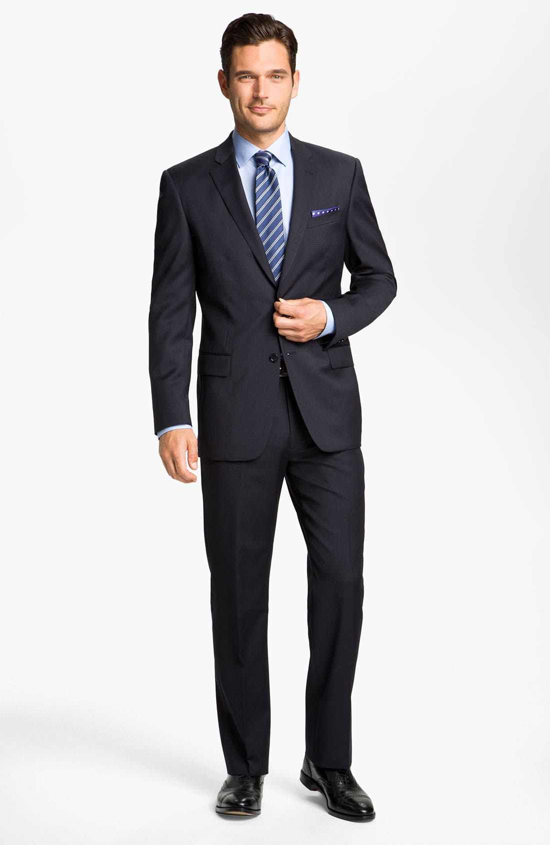 Alternate Image 4  - John Varvatos Star USA 'Thompson' Flat Front Wool Trousers