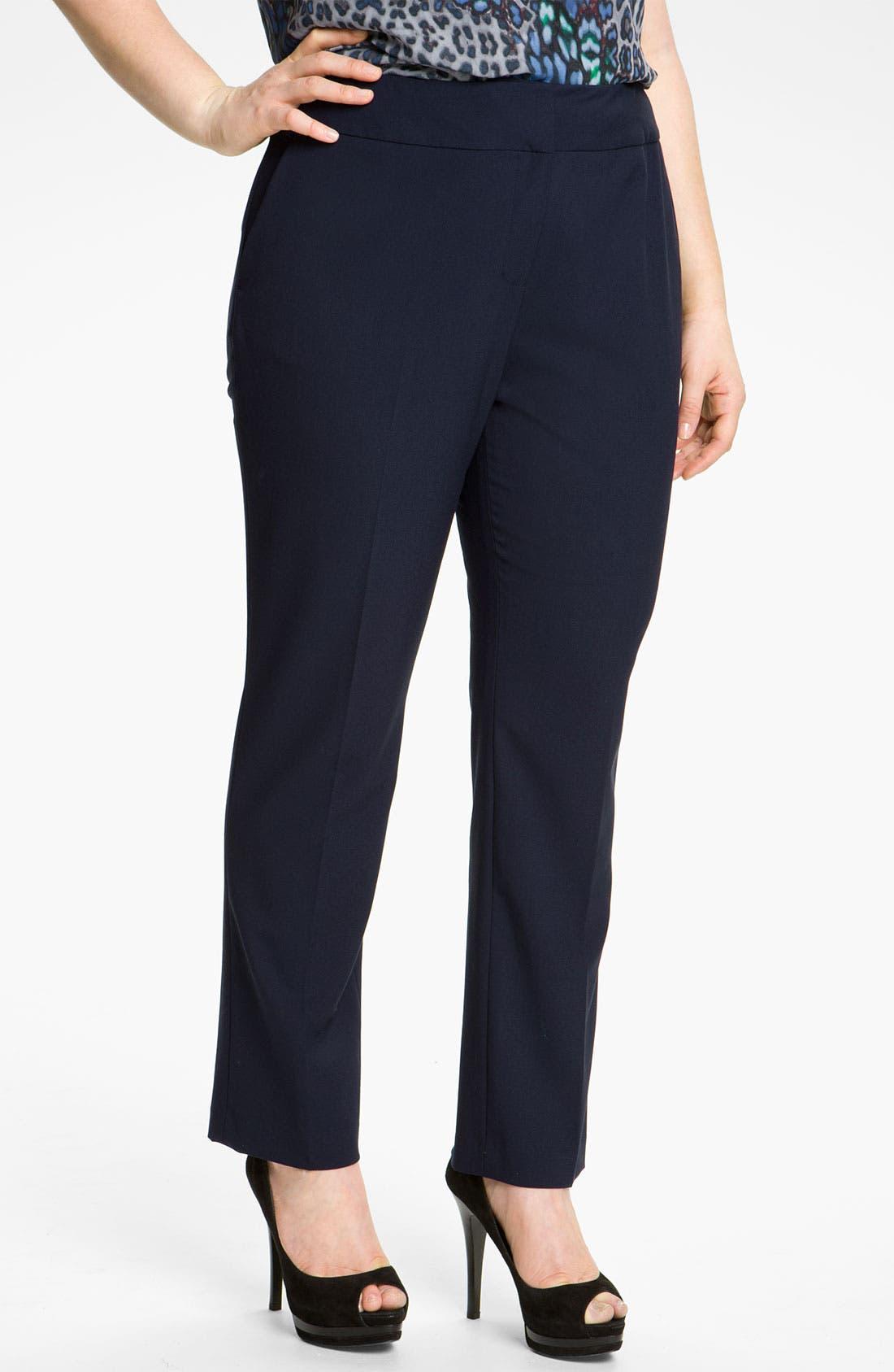 Alternate Image 1 Selected - Vince Camuto Slim Leg Crop Pants (Plus)