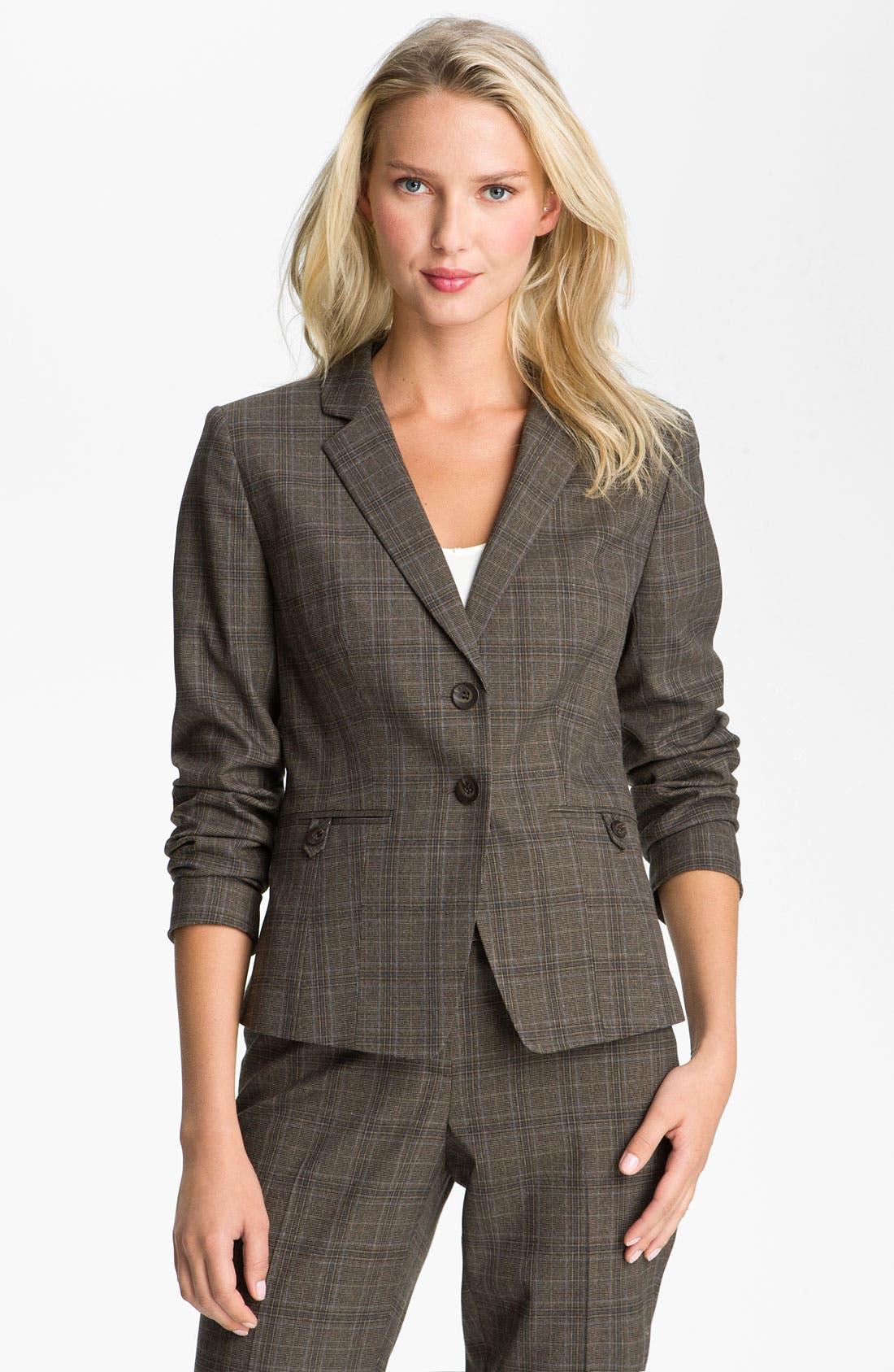 Alternate Image 1 Selected - Halogen® Plaid Jacket