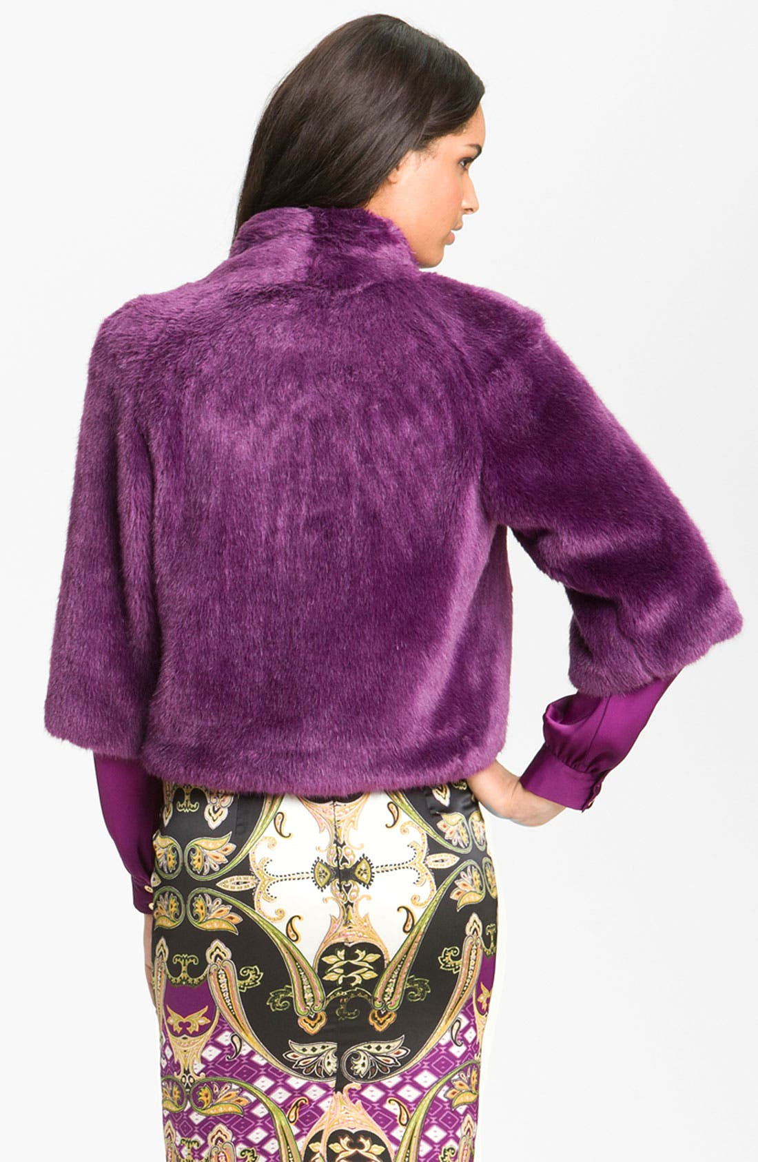 Alternate Image 2  - Vince Camuto Faux Fur Crop Jacket