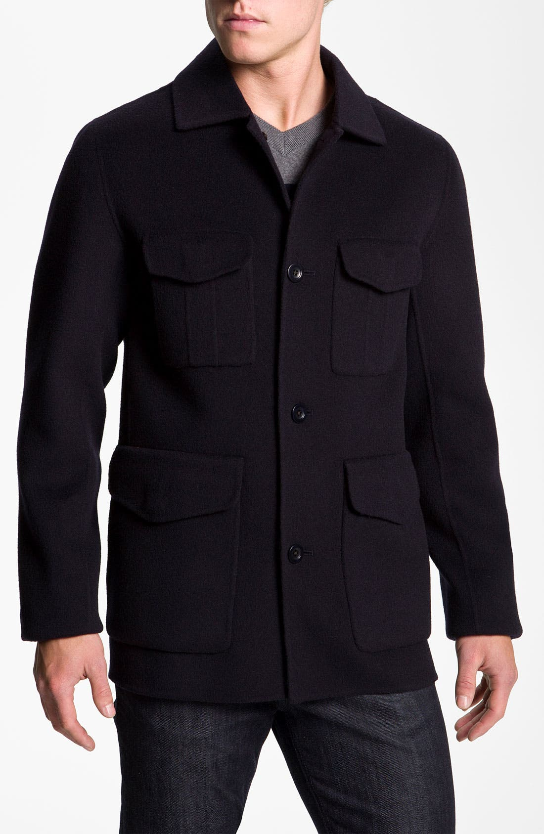 Alternate Image 1 Selected - Vince Wool Blend Worker Jacket