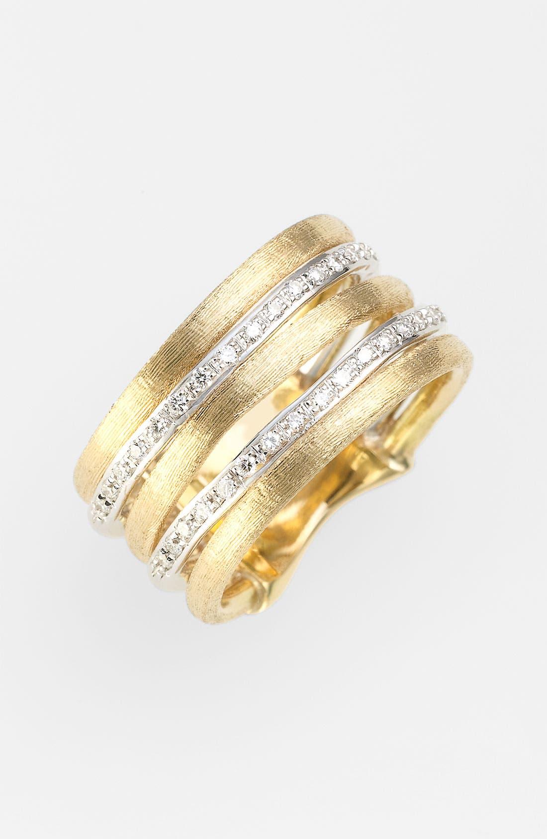 Alternate Image 1 Selected - Marco Bicego 'Jaipur' Stacked Diamond Ring